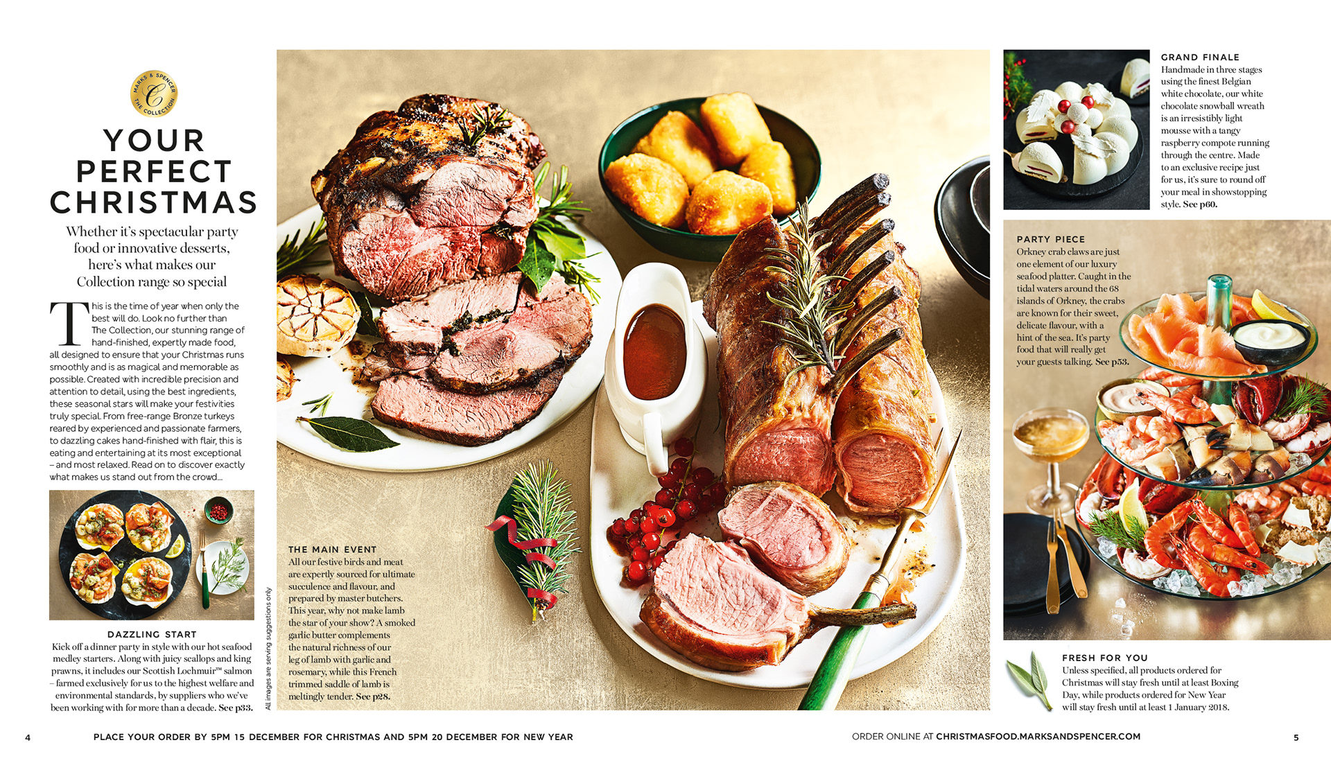 MS Christmas Food To Order 2017 Concept Art Direction And Design While Engaged By Redwood Publishing For Photography Martin Poole Styling Rachel