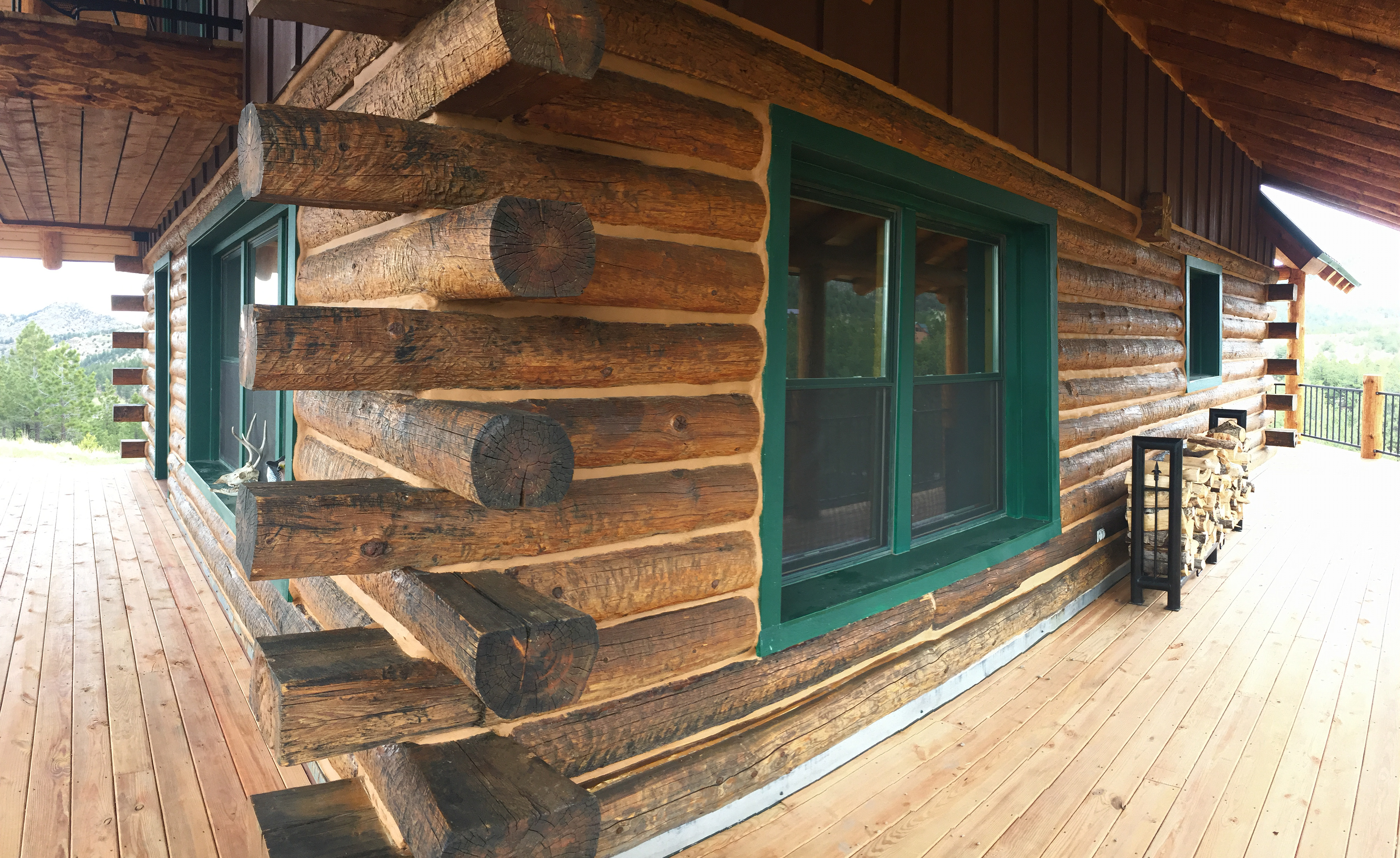 Log home restoration colorado westliffe colorado log for Chinking log cabin