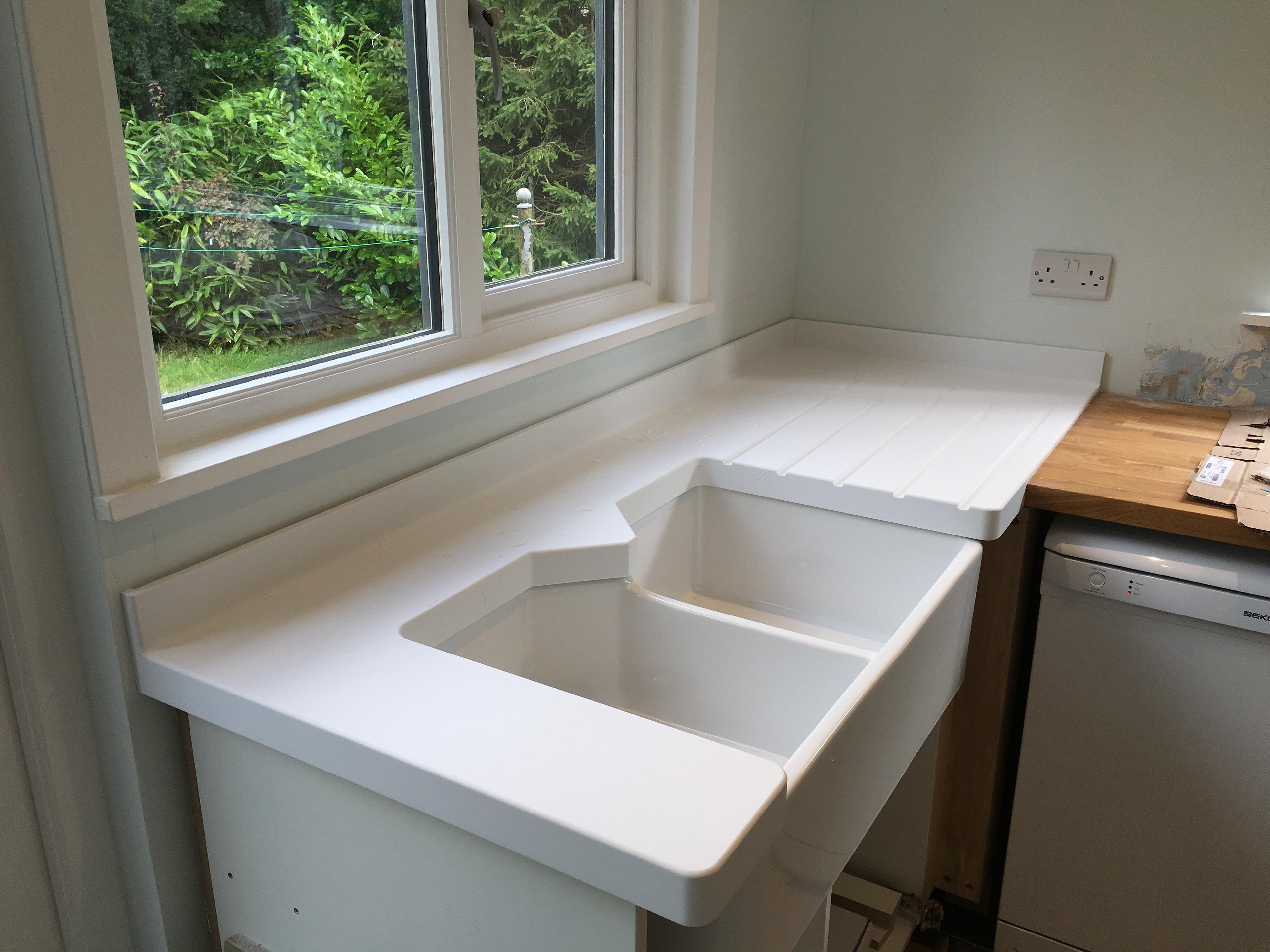 Sorell Furniture - Corian Kitchen Sink Area