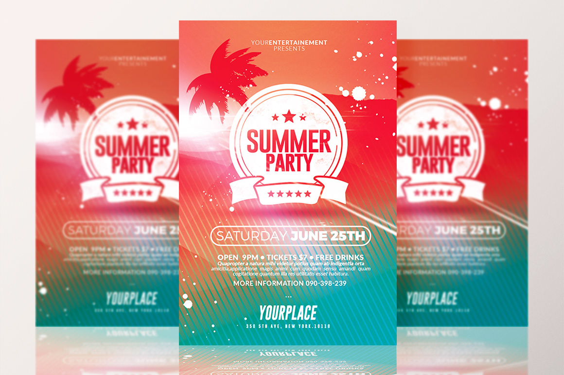 Rome Creation Summer Party Flyer Template