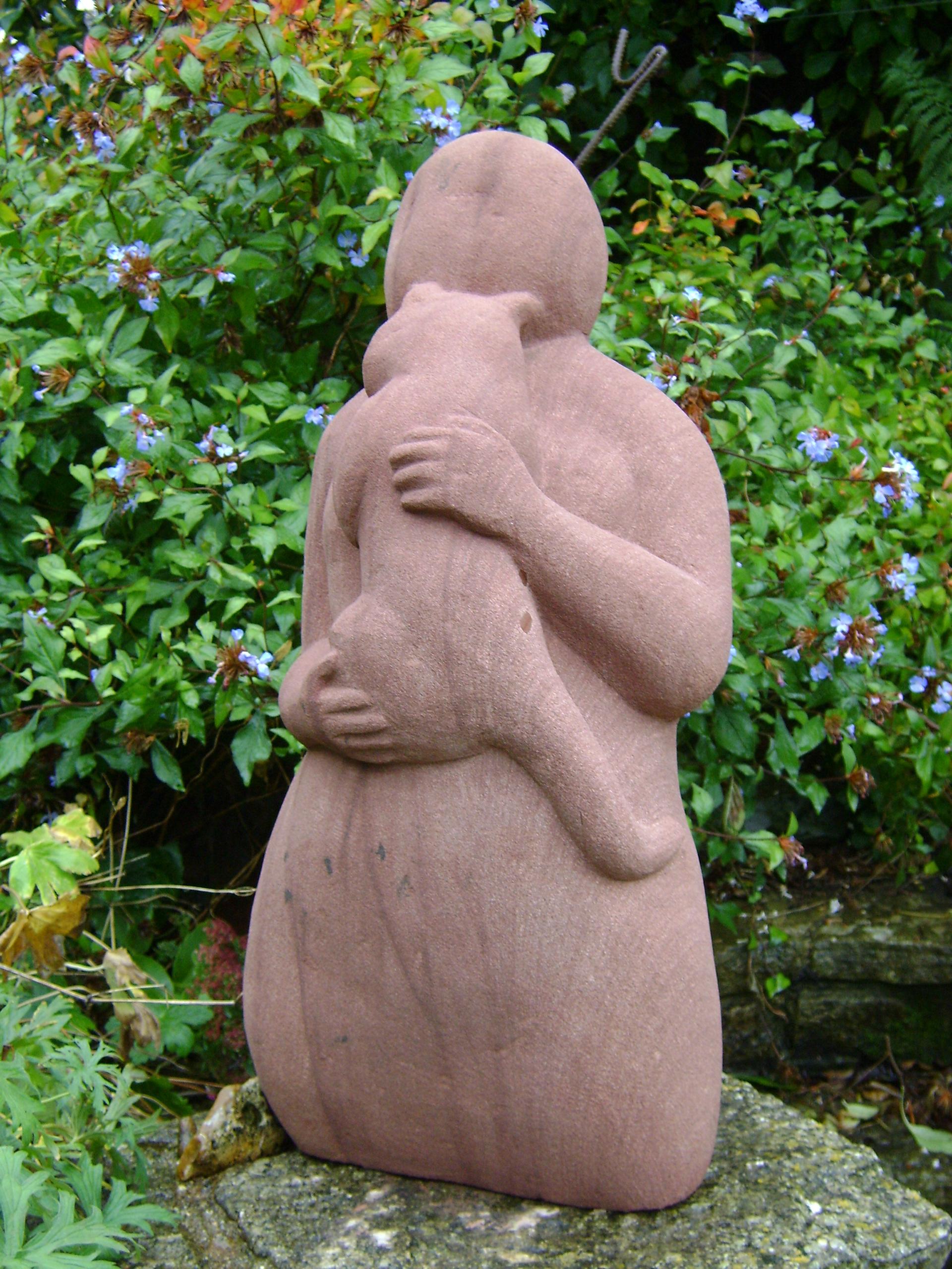 garden rw seik serene angelika statue cat