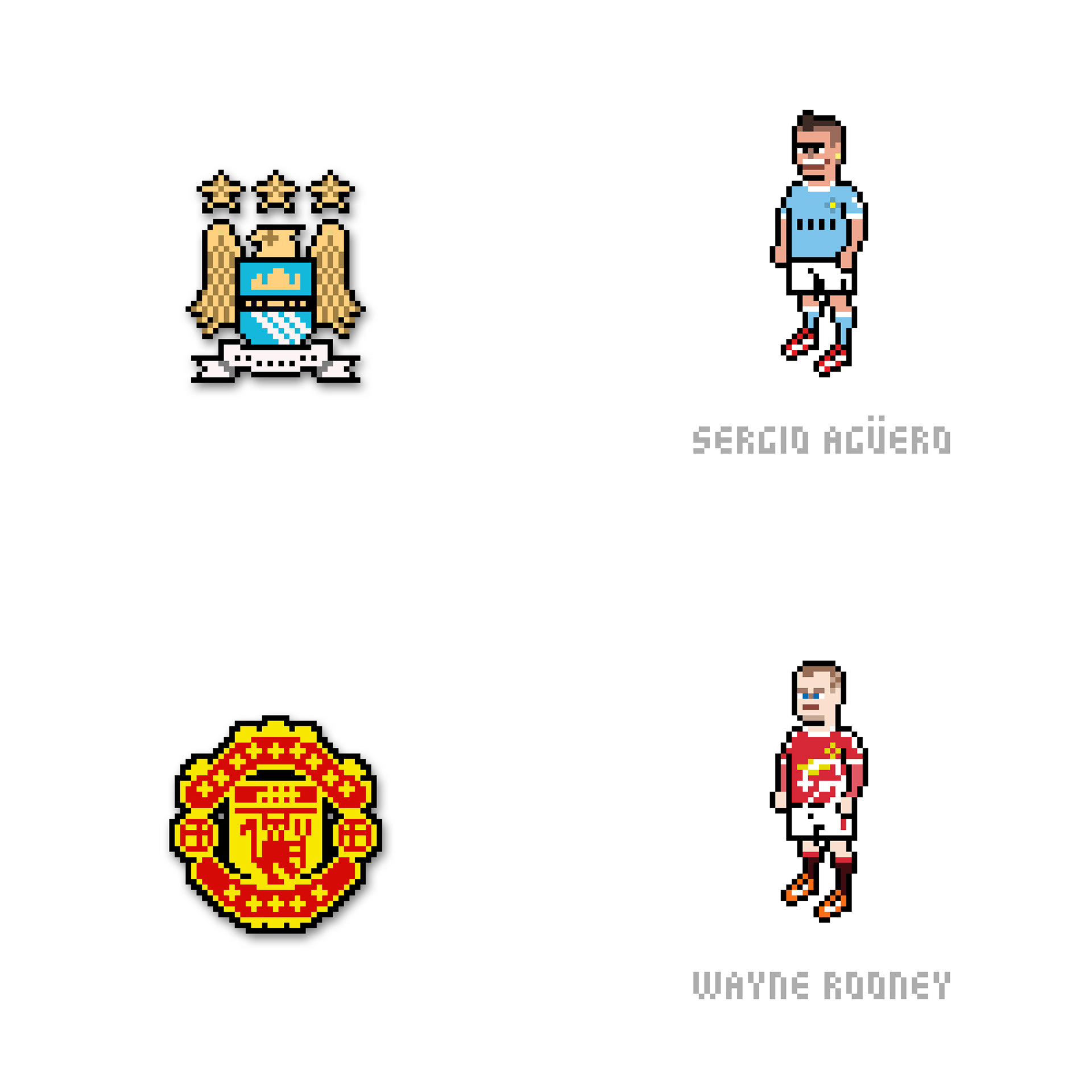 Joojaebum Barclays Premier League Pixel Art