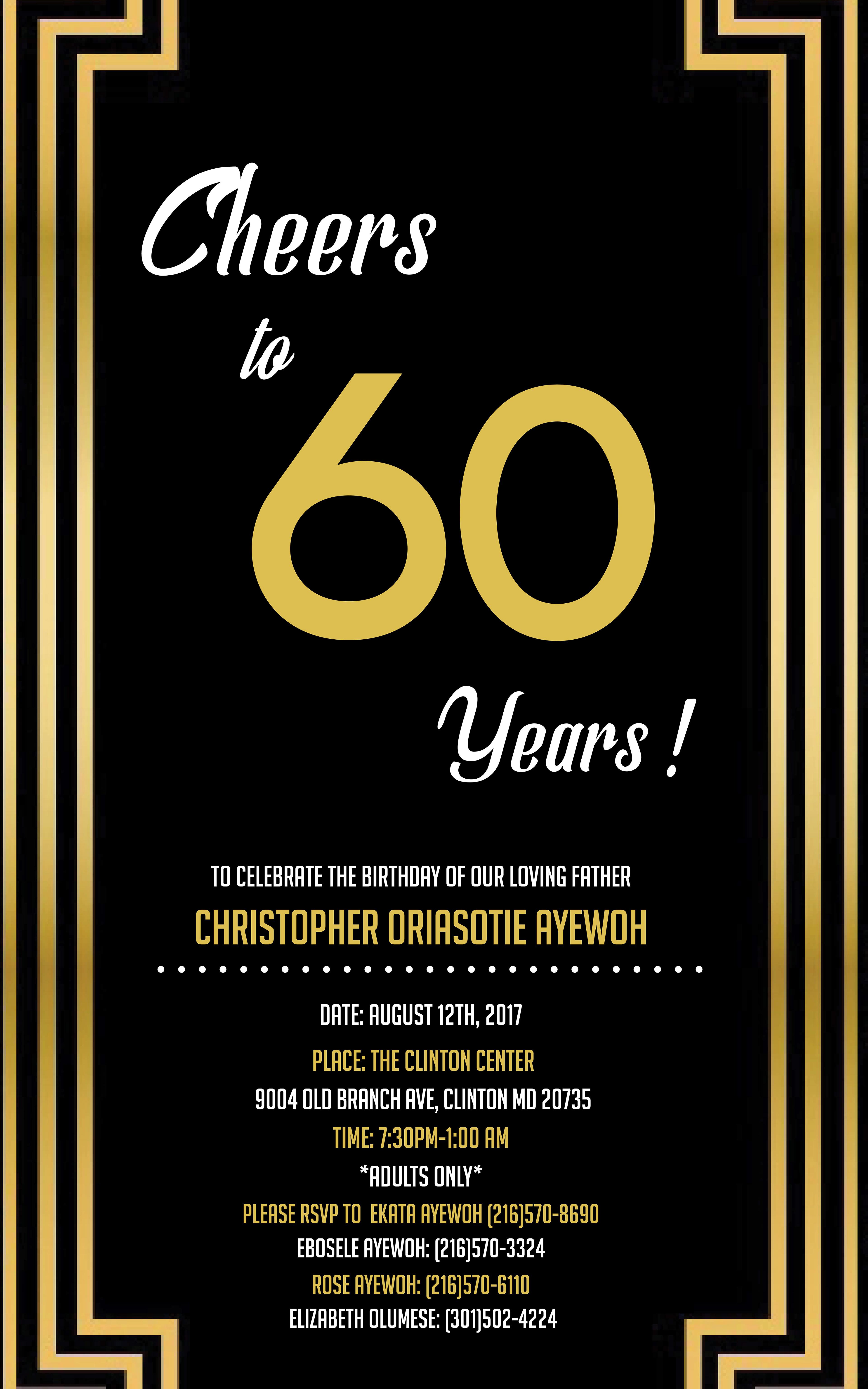 Taylor gregory 60th birthday invitation 60th birthday invitation filmwisefo