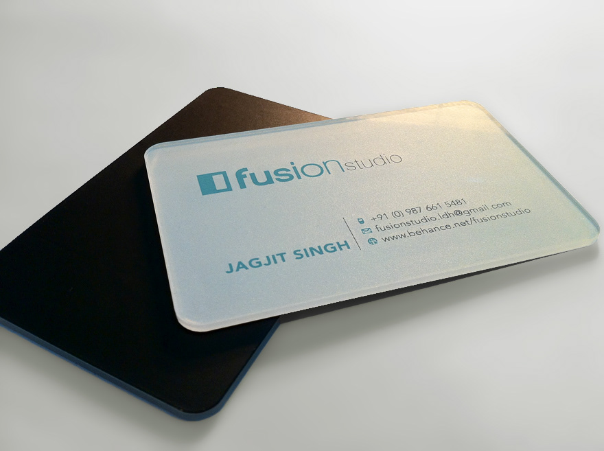 Fusion studio creative jobs creative jobs creative signage and branding styles acrylic business cards reheart Images