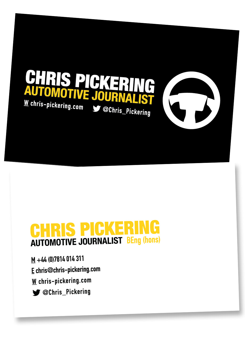Stewart Harris Designs - Chris Pickering business cards