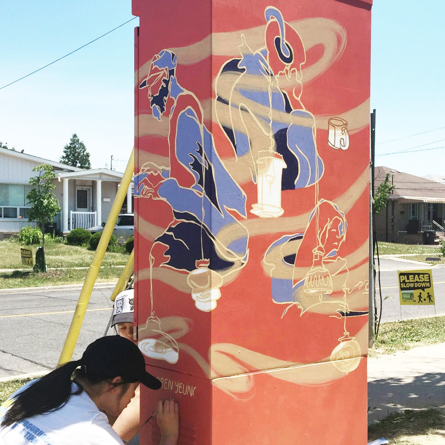 loren yeung coffee traffic box mural for city of toronto s streetartoronto 2016 outside the box program located at sheppard ave and northover st