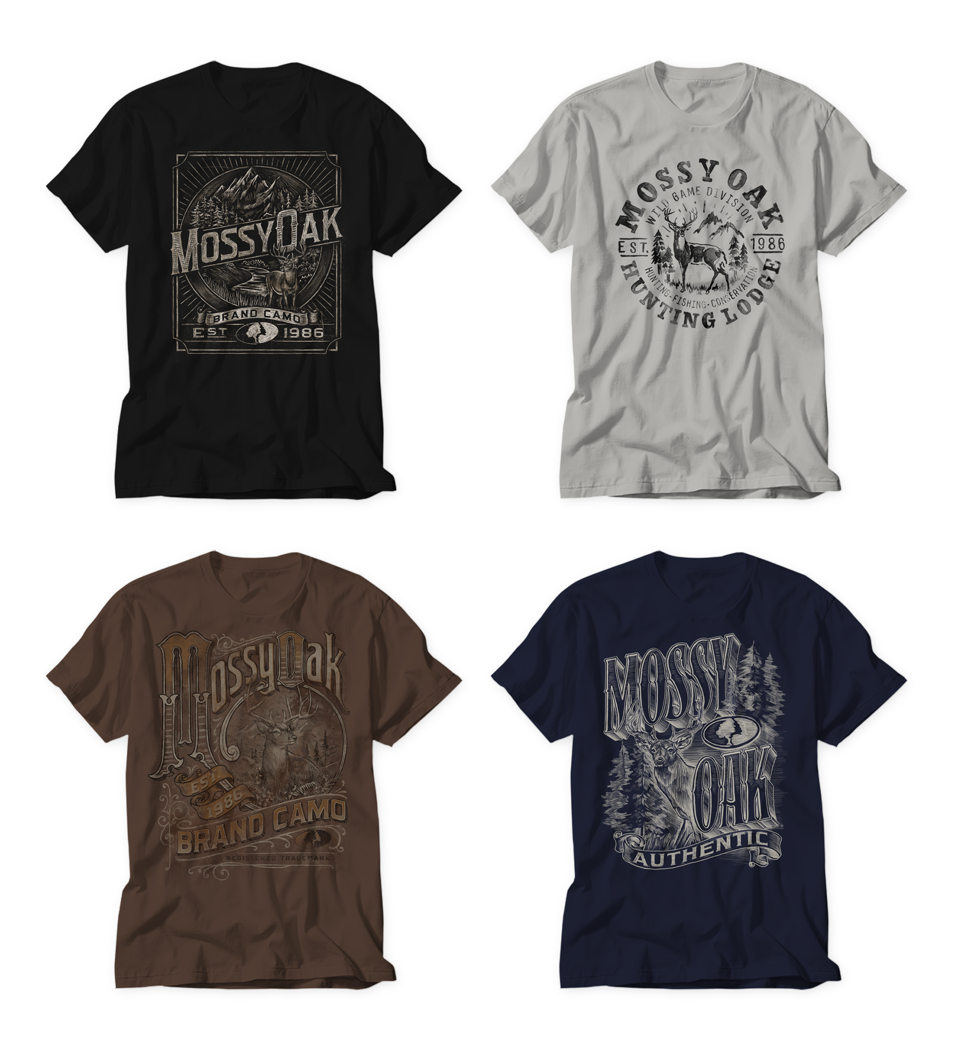 Michael Hinkle Graphic Design And Illustration Mossy Oak T Shirt