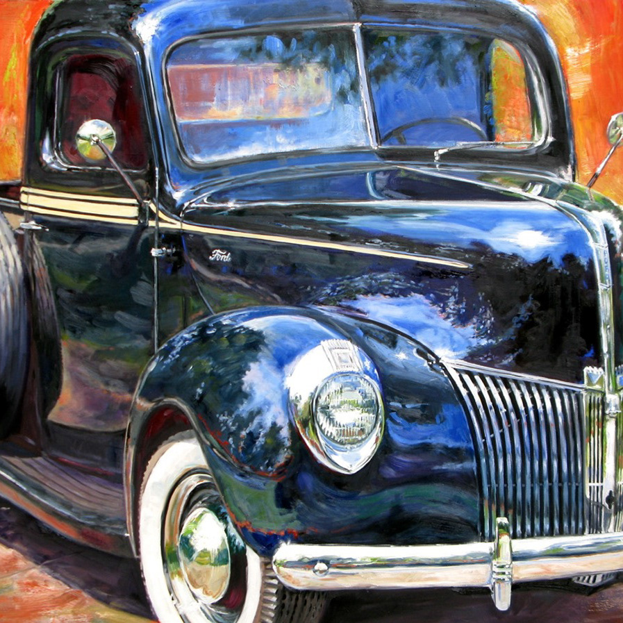 Western Fine Art Gallery Paintings of American Indians, Classic Cars