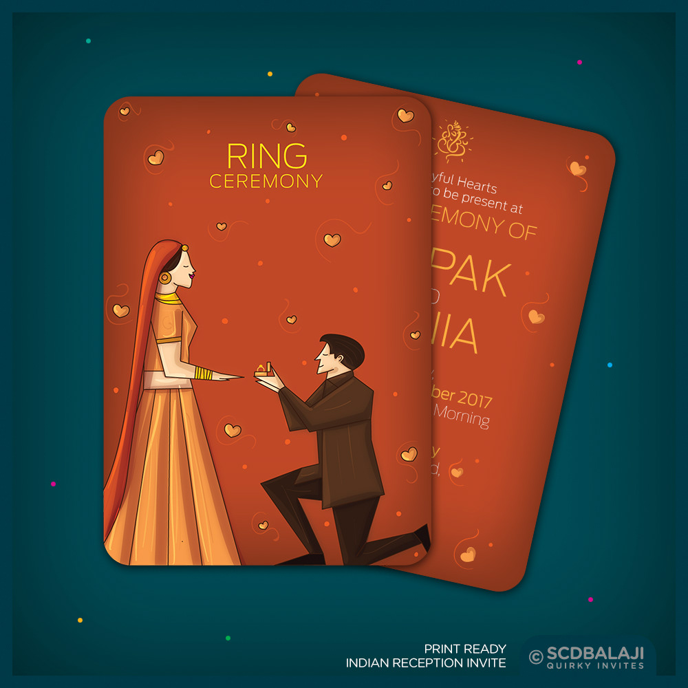 Indian Wedding Invite Size A5 Front Back Card Cover Gsm 300 Lamination Glossy Rs 60 Per 20