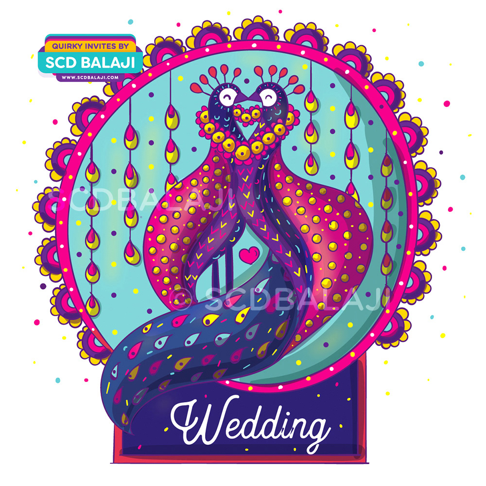 Quirky & Creative Indian Wedding Invitations - Alebrije, Mexican Art ...
