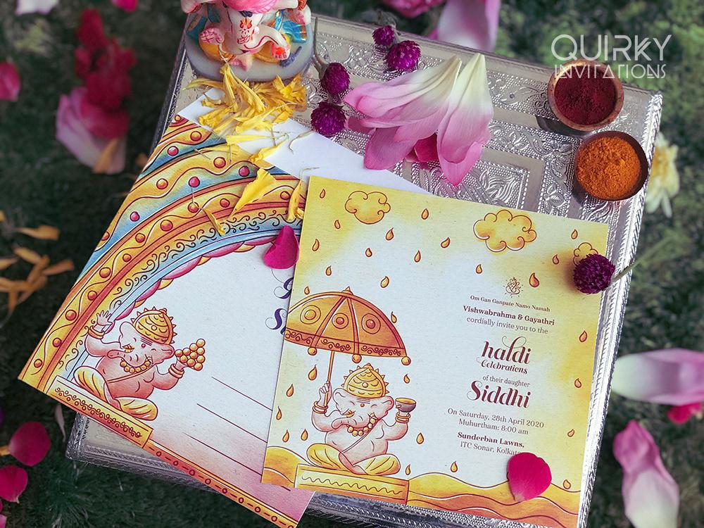 Quirky Indian Wedding Invitations Ganesha Wedding Invitation Suite