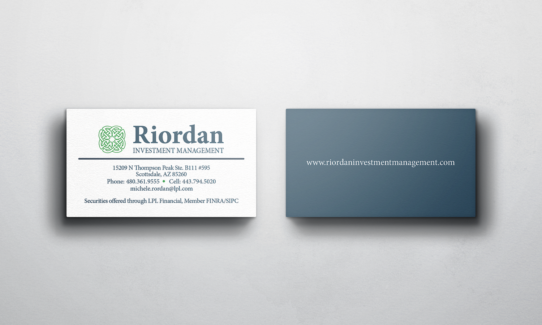 Andrew Carson - Riordan Business Card