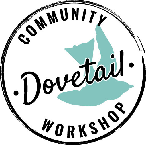 Leslie reilly logo design for dovetail community workshop was asked to design a logo for this great new company dovetail community workshop their motto do it yourself doesnt have to mean do it alone solutioingenieria Gallery