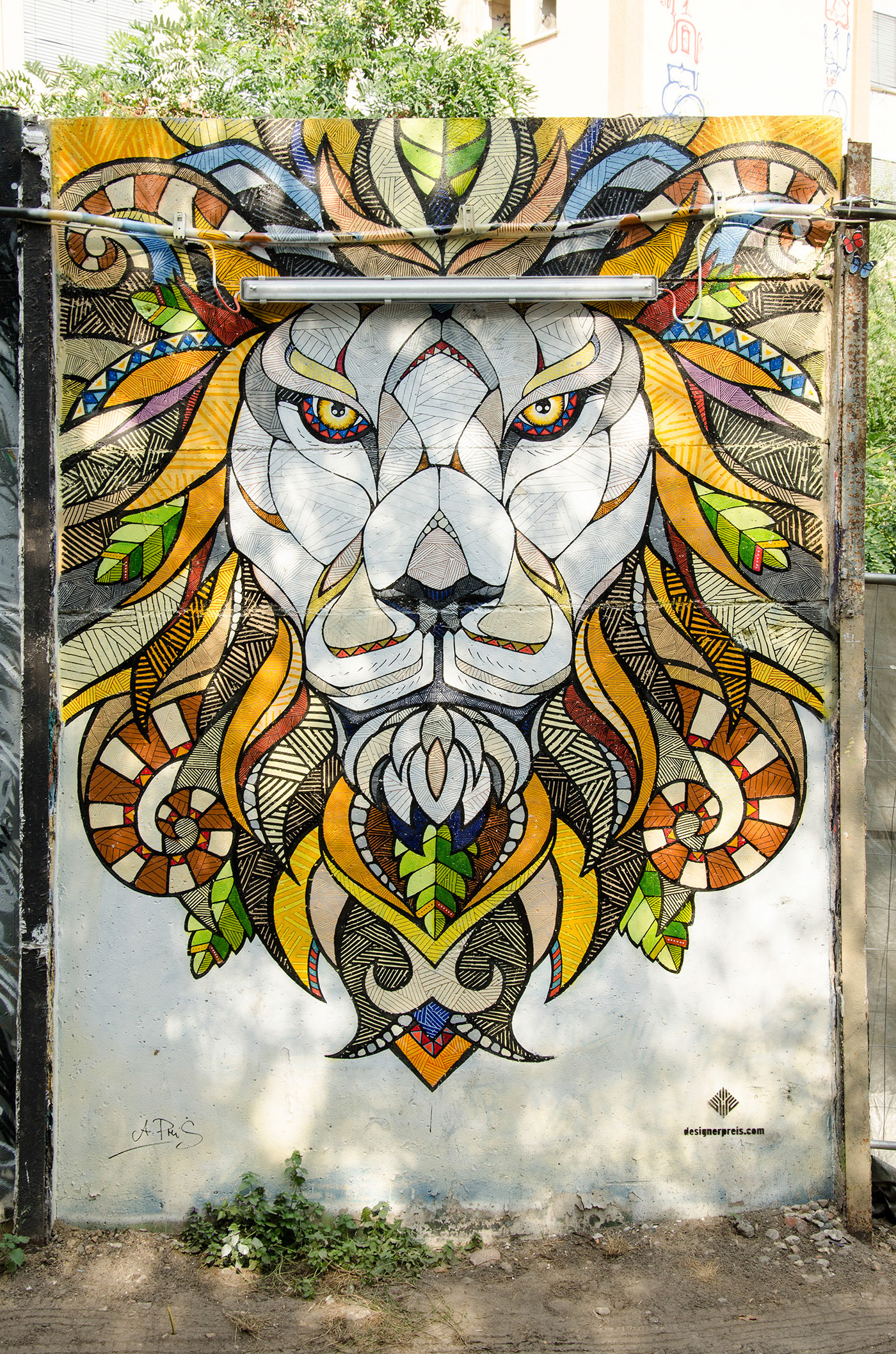 Andreas Preis Yaam Mural Lion