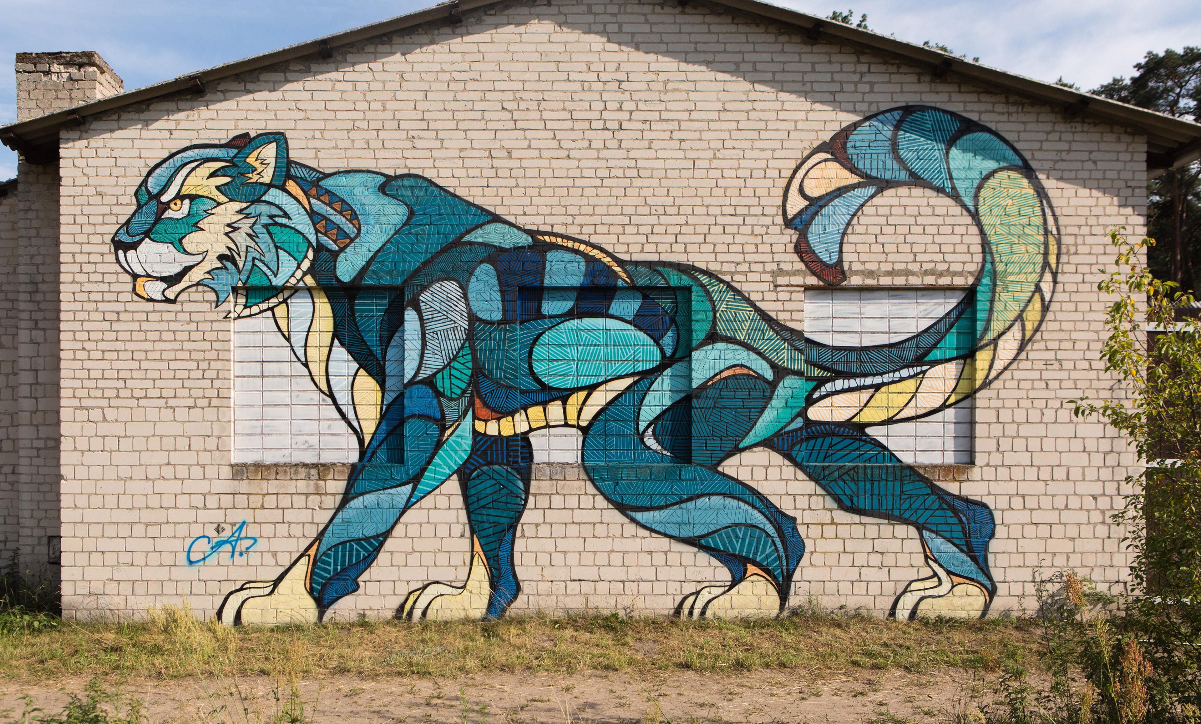 Andreas preis funky cattt mural for Thank you mural