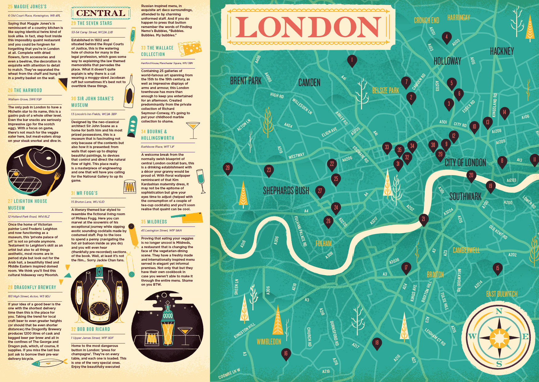 Adam grason great little place map i was commissioned to create a map of london that featured some unknown hidden gems the map was later produced and sold in their shop freerunsca Choice Image