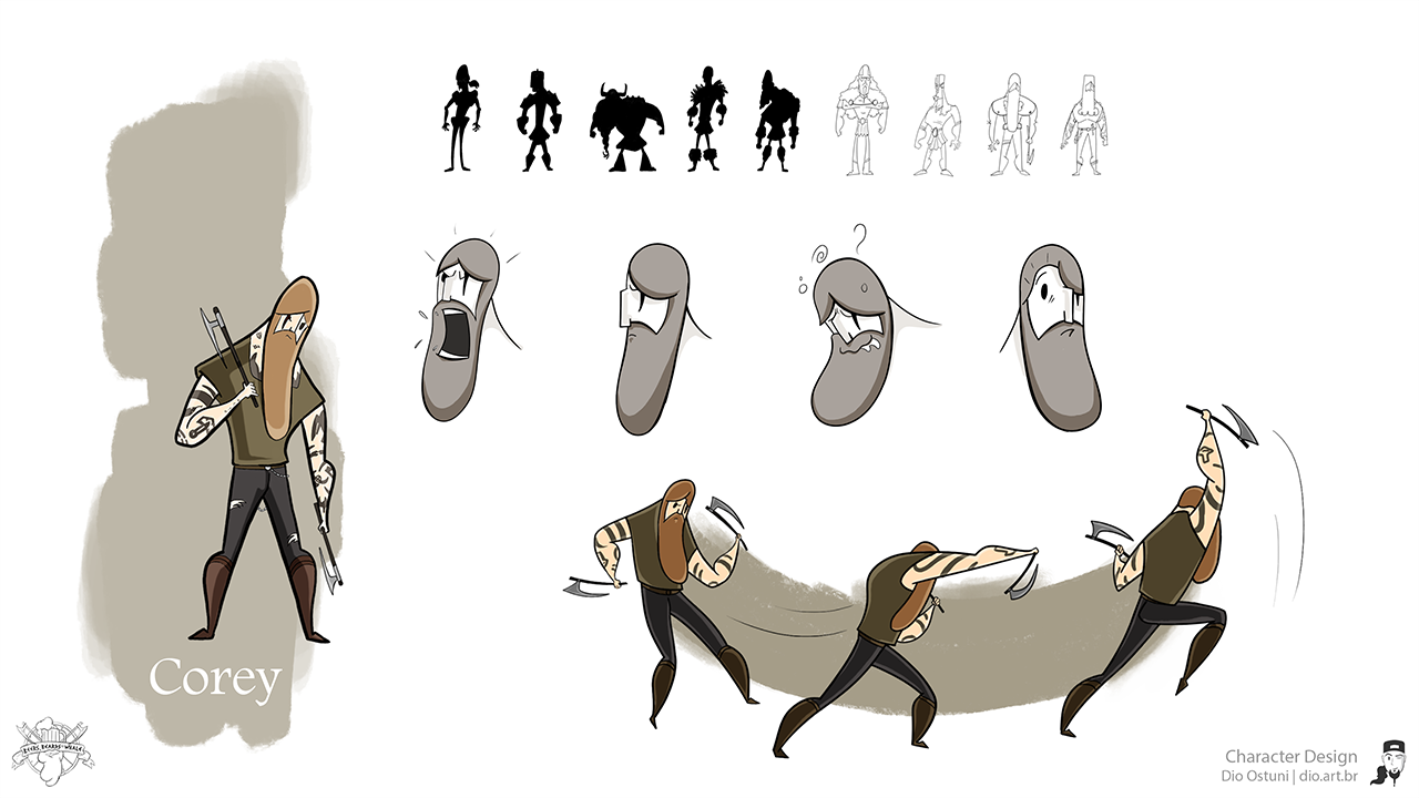 Beers, Beards and a Whale - Character Design