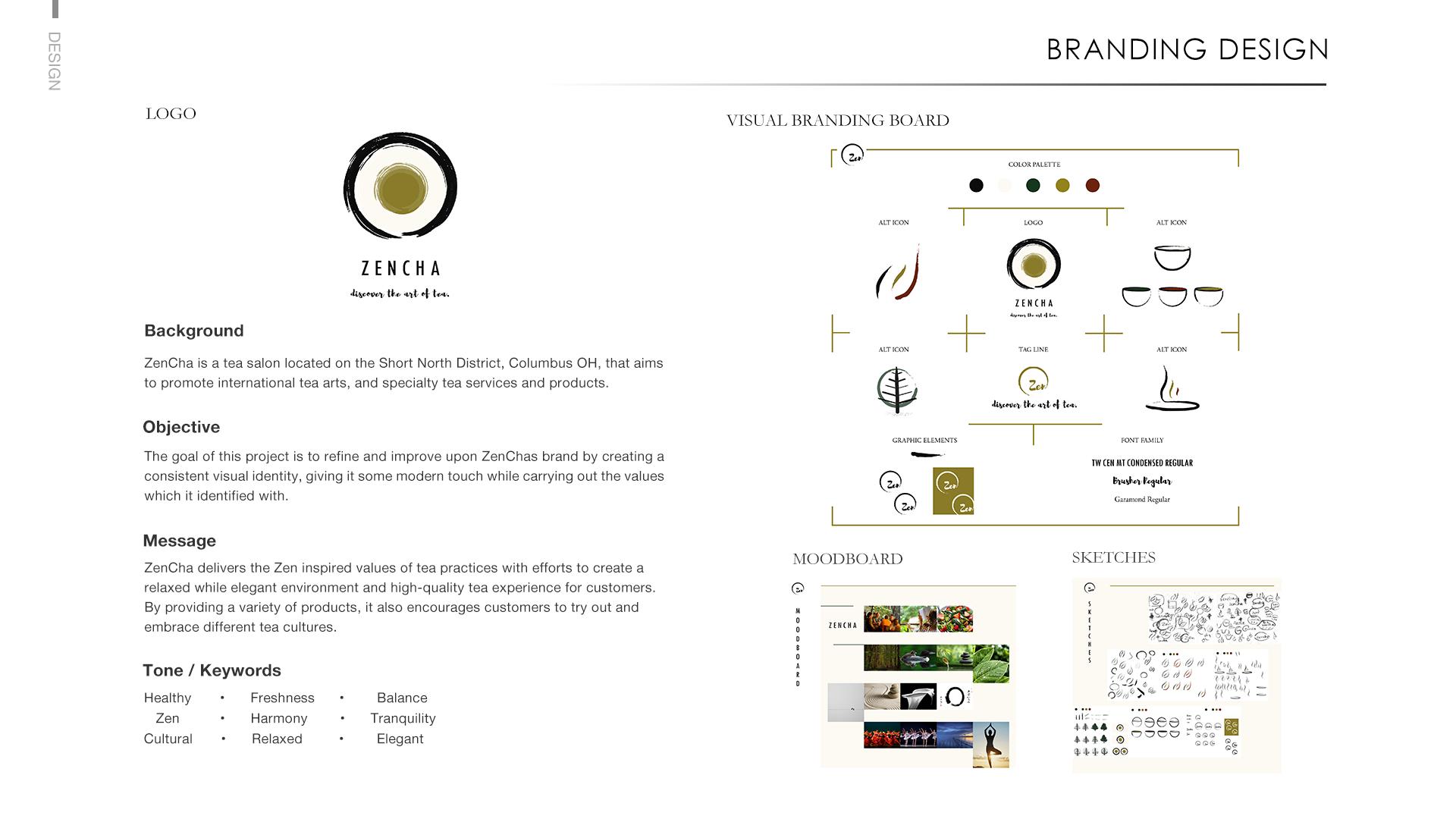 Yiqiao Li Branding Design Zencha