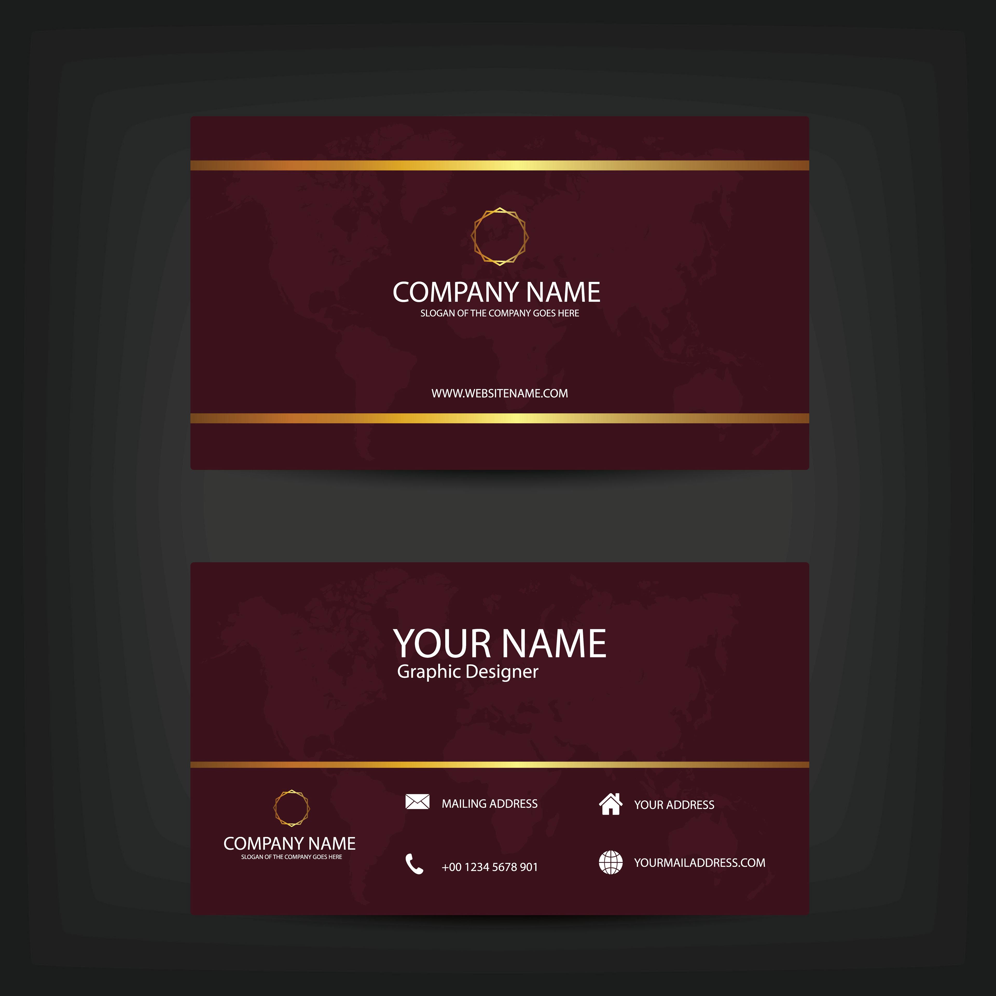 Sai Wagh Dark Modern Business Card Design Template
