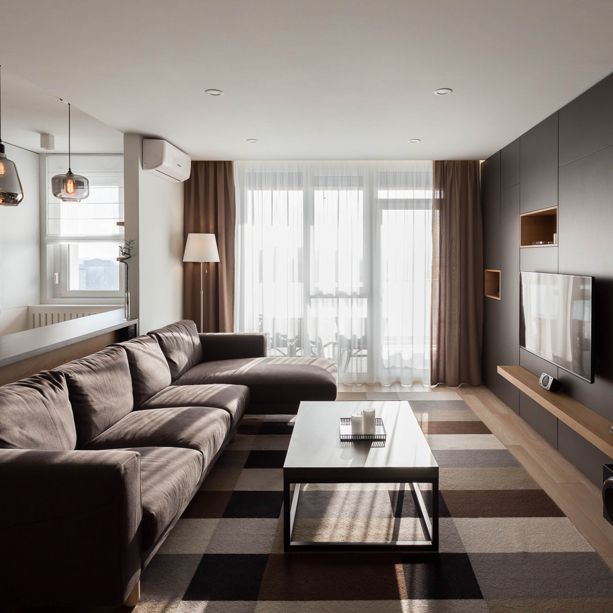 Davidsign - Design Studio - Dark & Cozy 2-Room Apartment