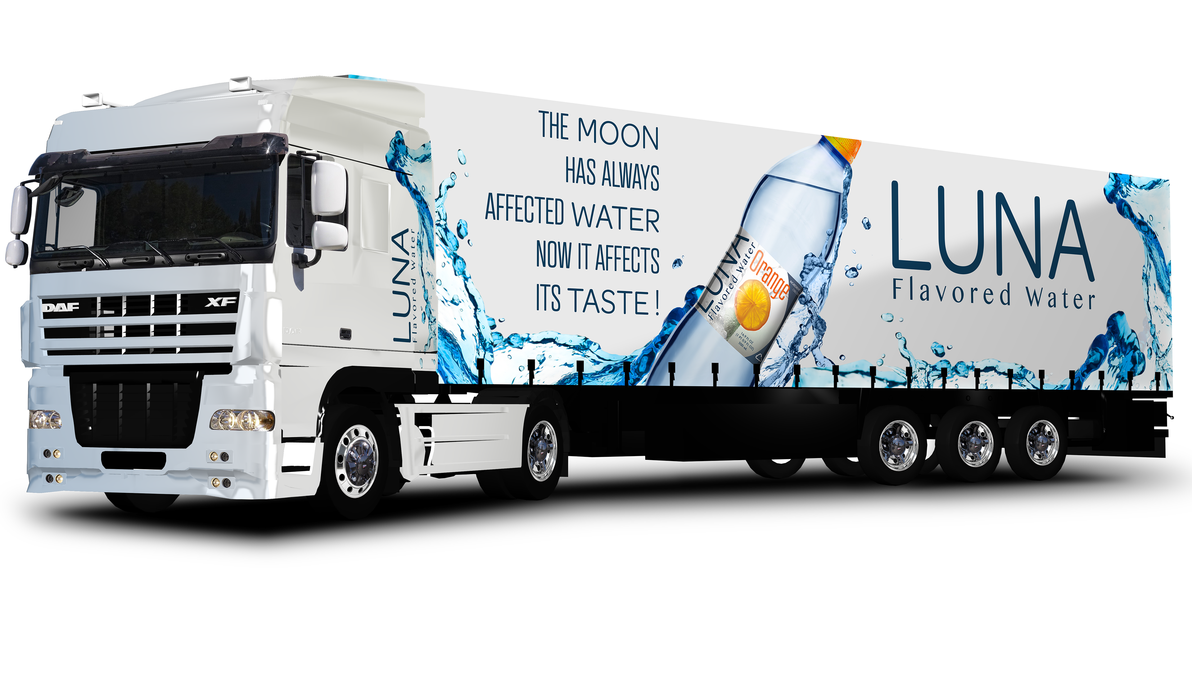 william winfield - Luna flavored water logo, branding ...