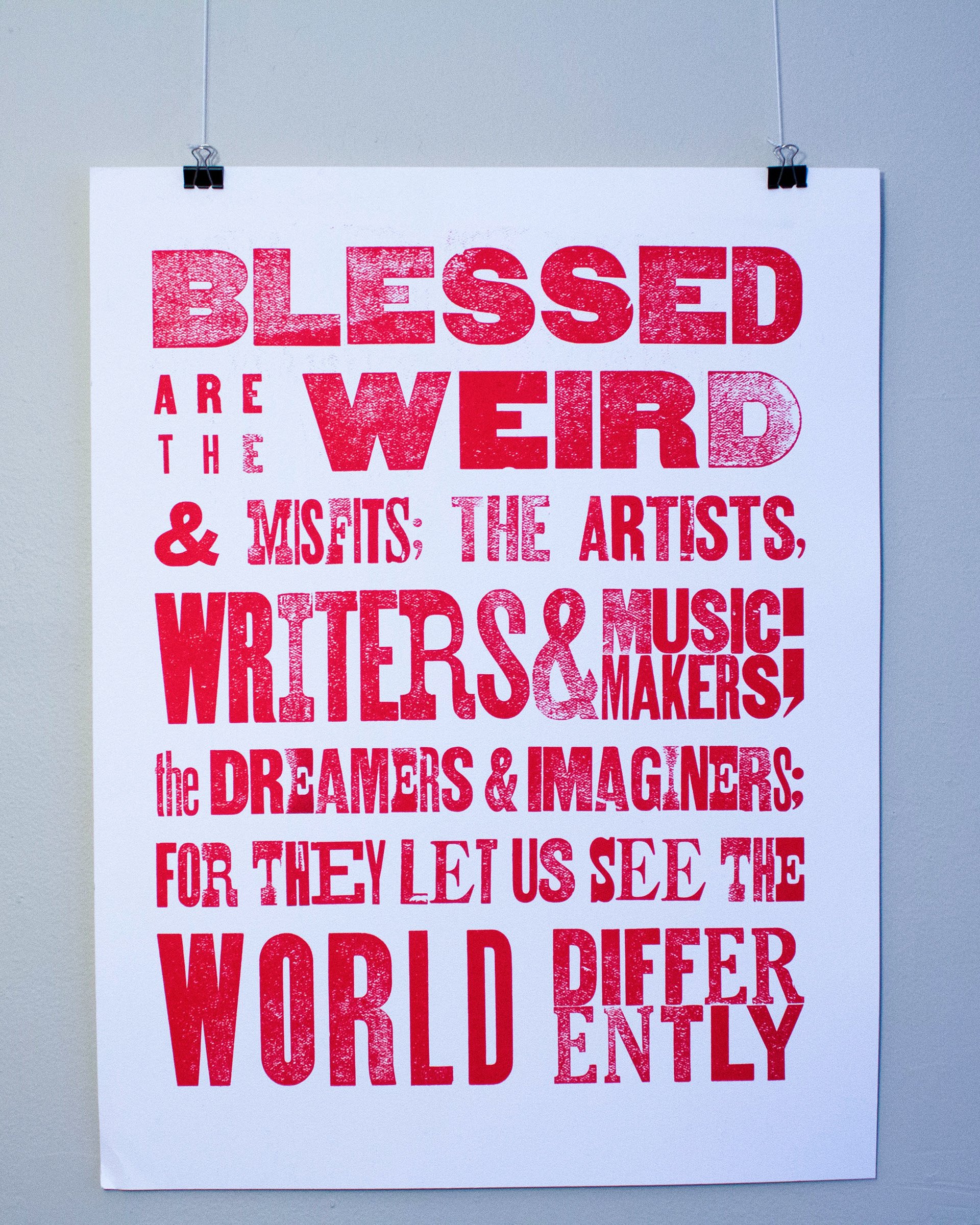 Chloe Spalsbury Letterpress Creative Quote