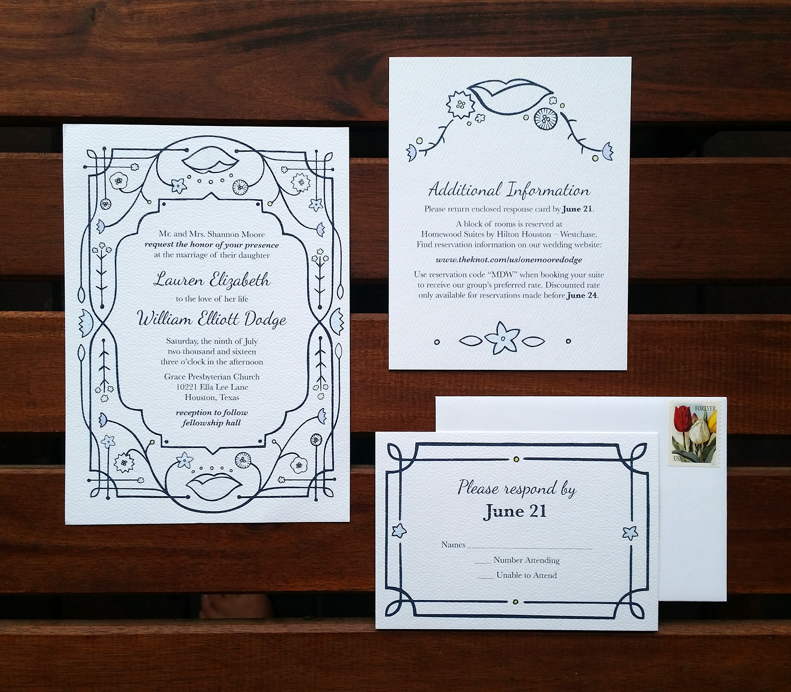 Jenna Luecke - Wedding Invitations