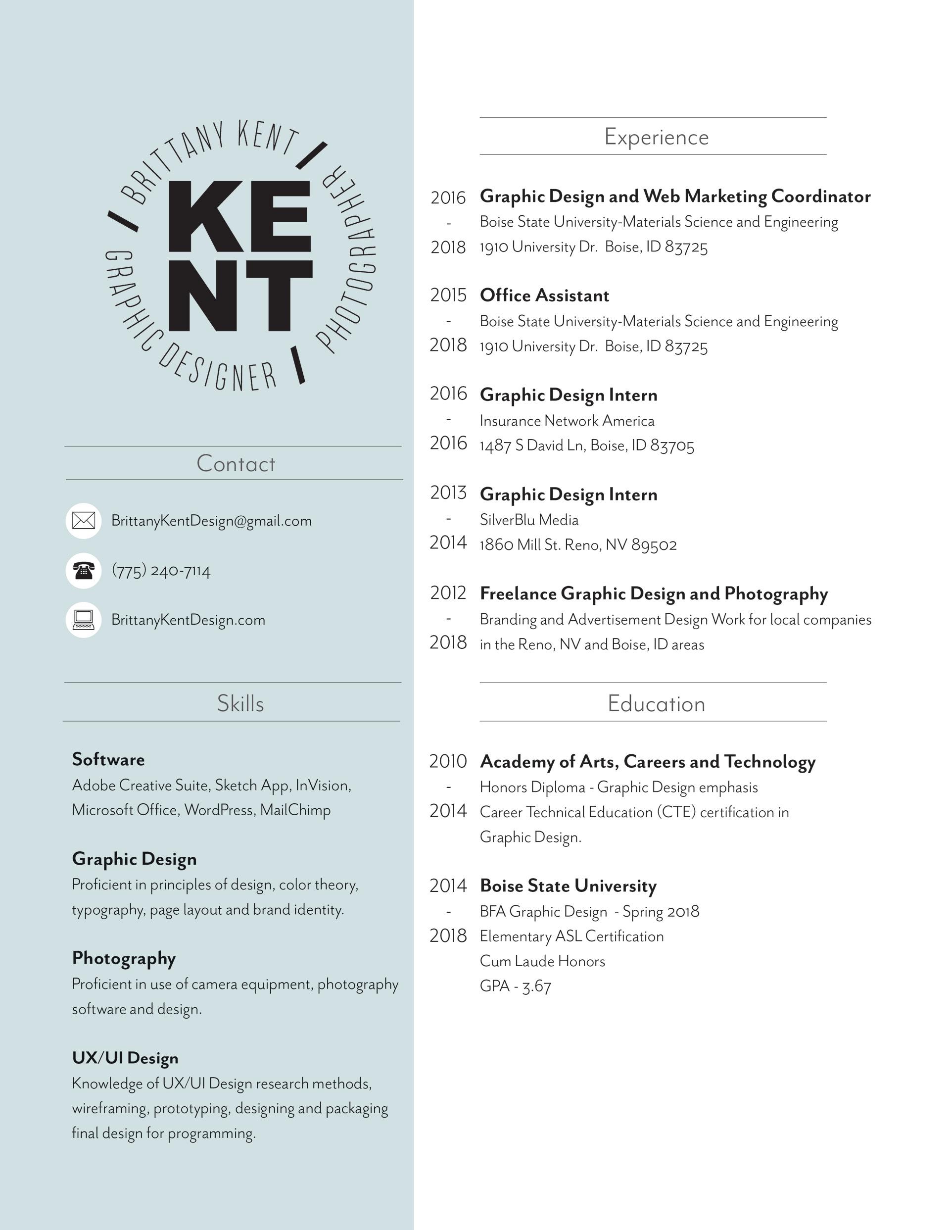 Brittany Kent Portfolio - Resume