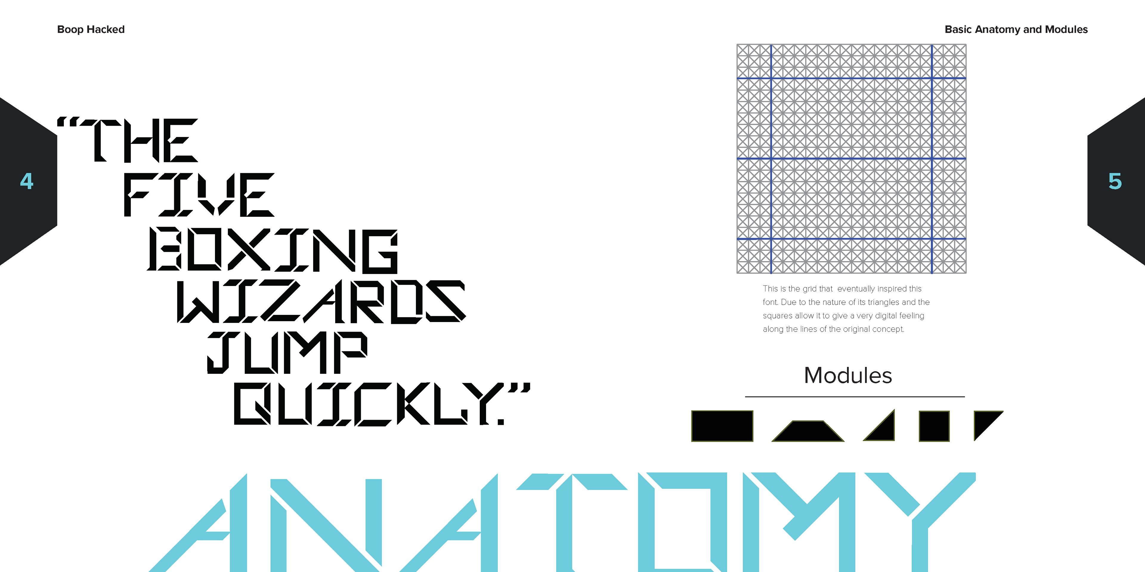 Elliot Mensah Kane - Created Modular Type Typeface Book
