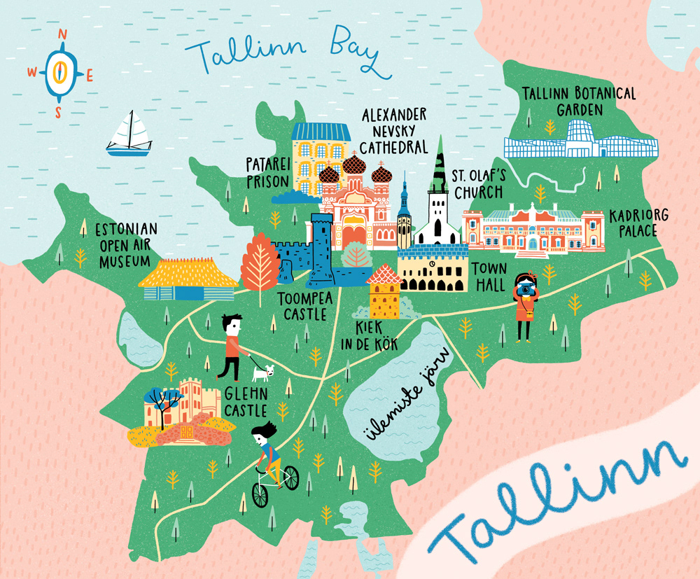 Kyan Cheng Map Of Tallinn - Tallinn map