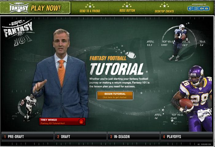 Kevyn Smith - ESPN Fantasy Football Tutorial