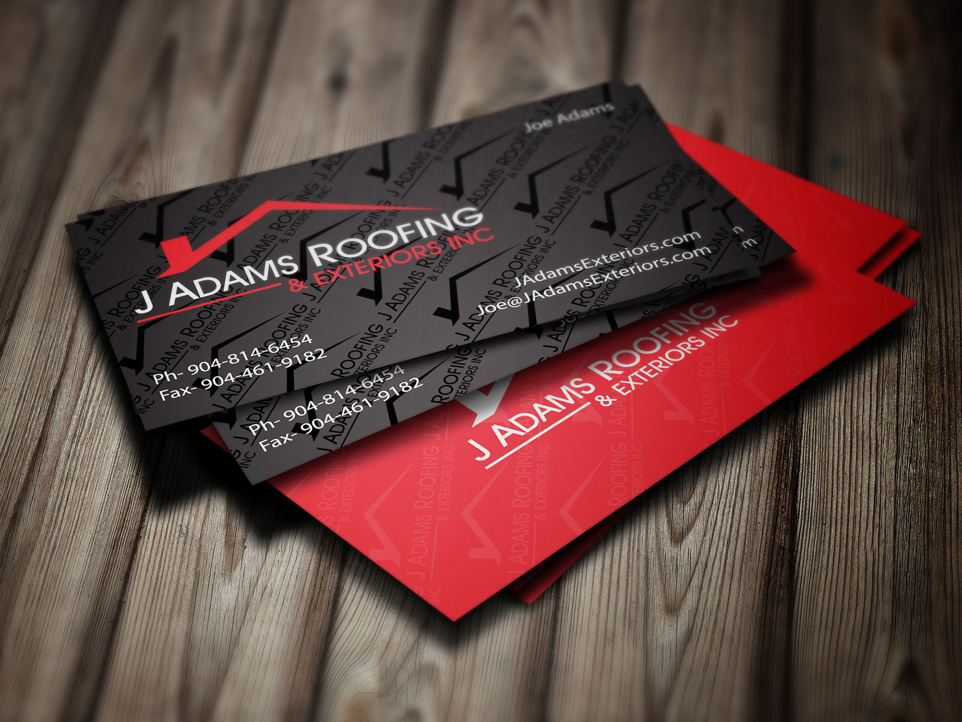business card - Roofing Business Cards