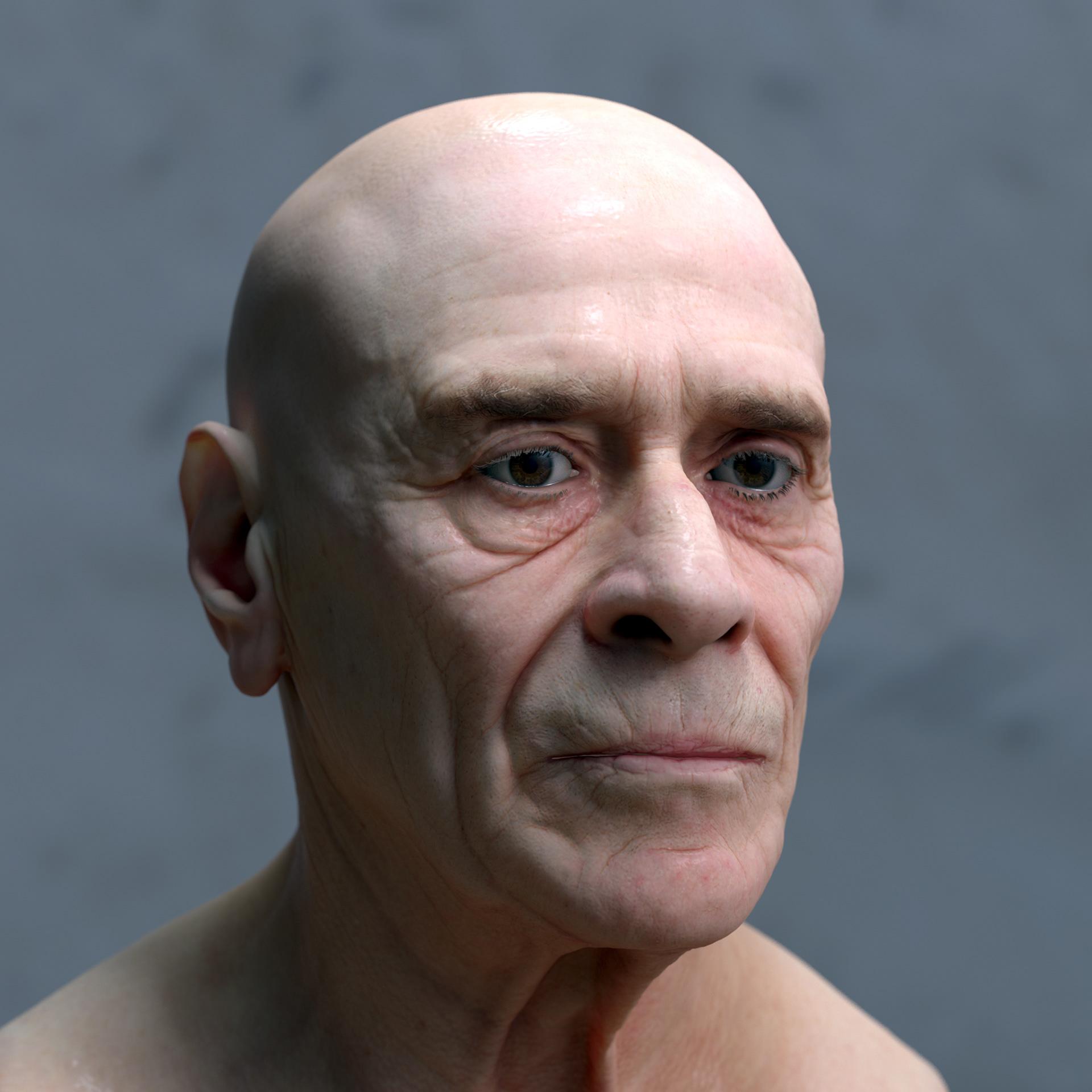 deformed face man - HD1920×1920