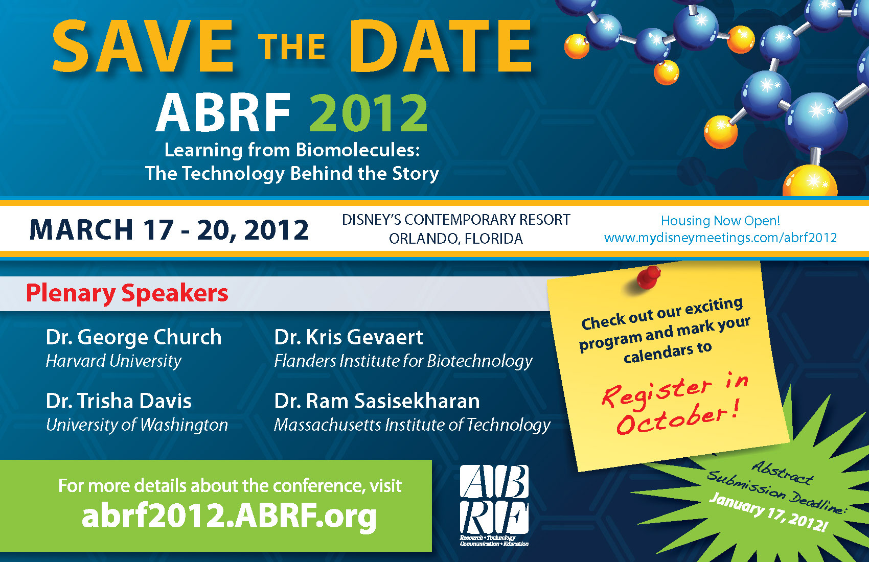 abrf meeting Meetings amp europe annual meeting & expo association for molecular pathology 9650 rockville pike, suite e205 bethesda, md 20814 phone: 301-634-7939.