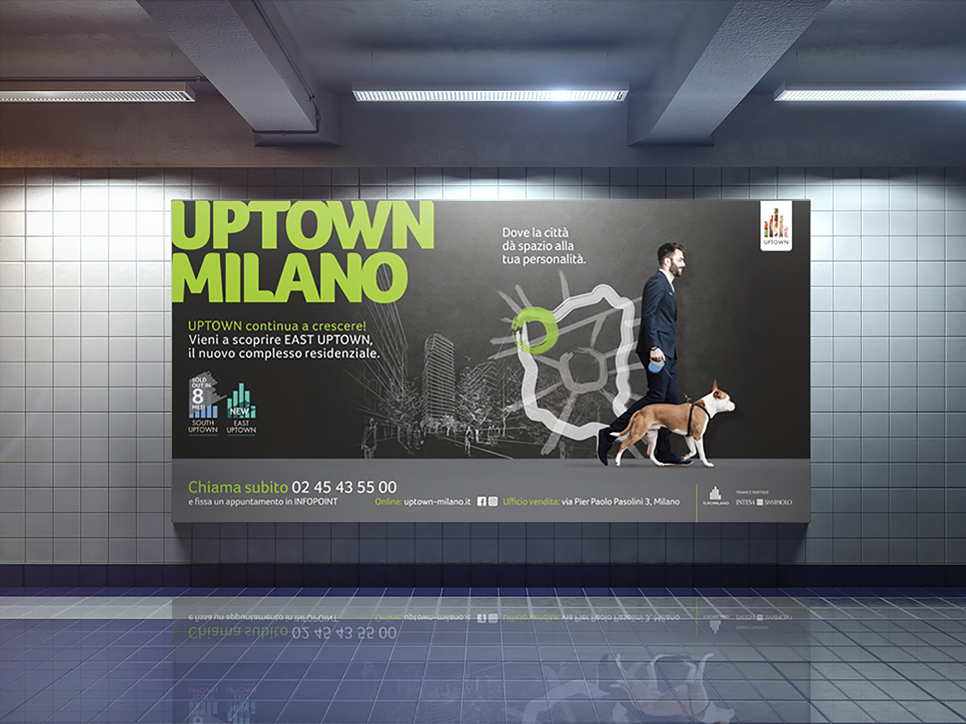 Paul Thompson Uptown Milano Adv Campaign