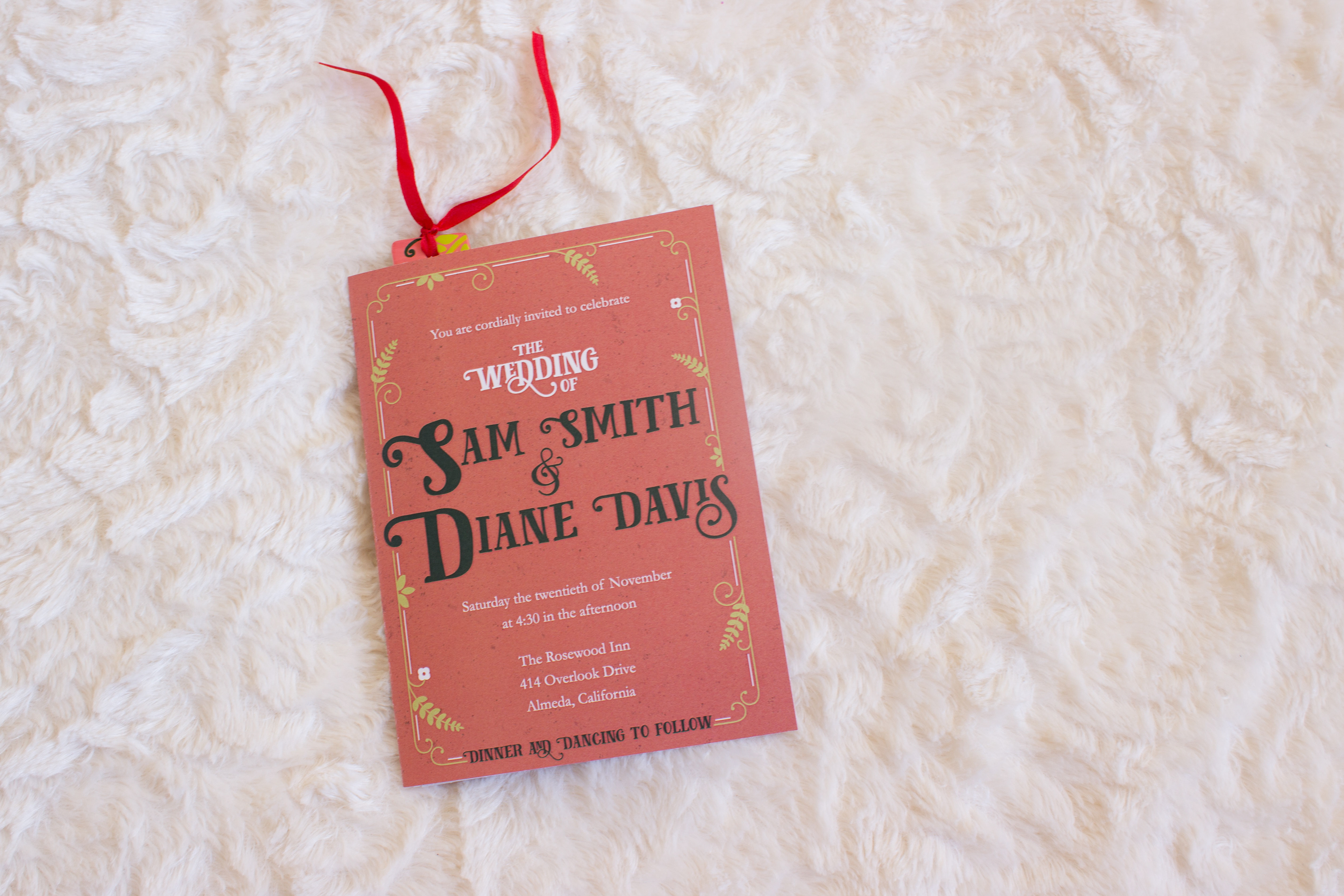 Graphic Design - Fairy Tale Wedding Invite