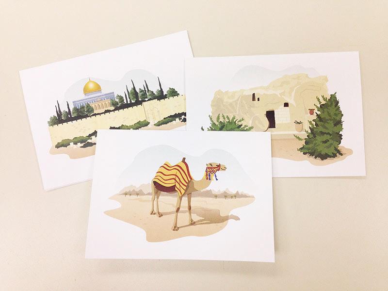 Jill mitchell illustrated israel greeting cards illustrated israel greeting cards m4hsunfo