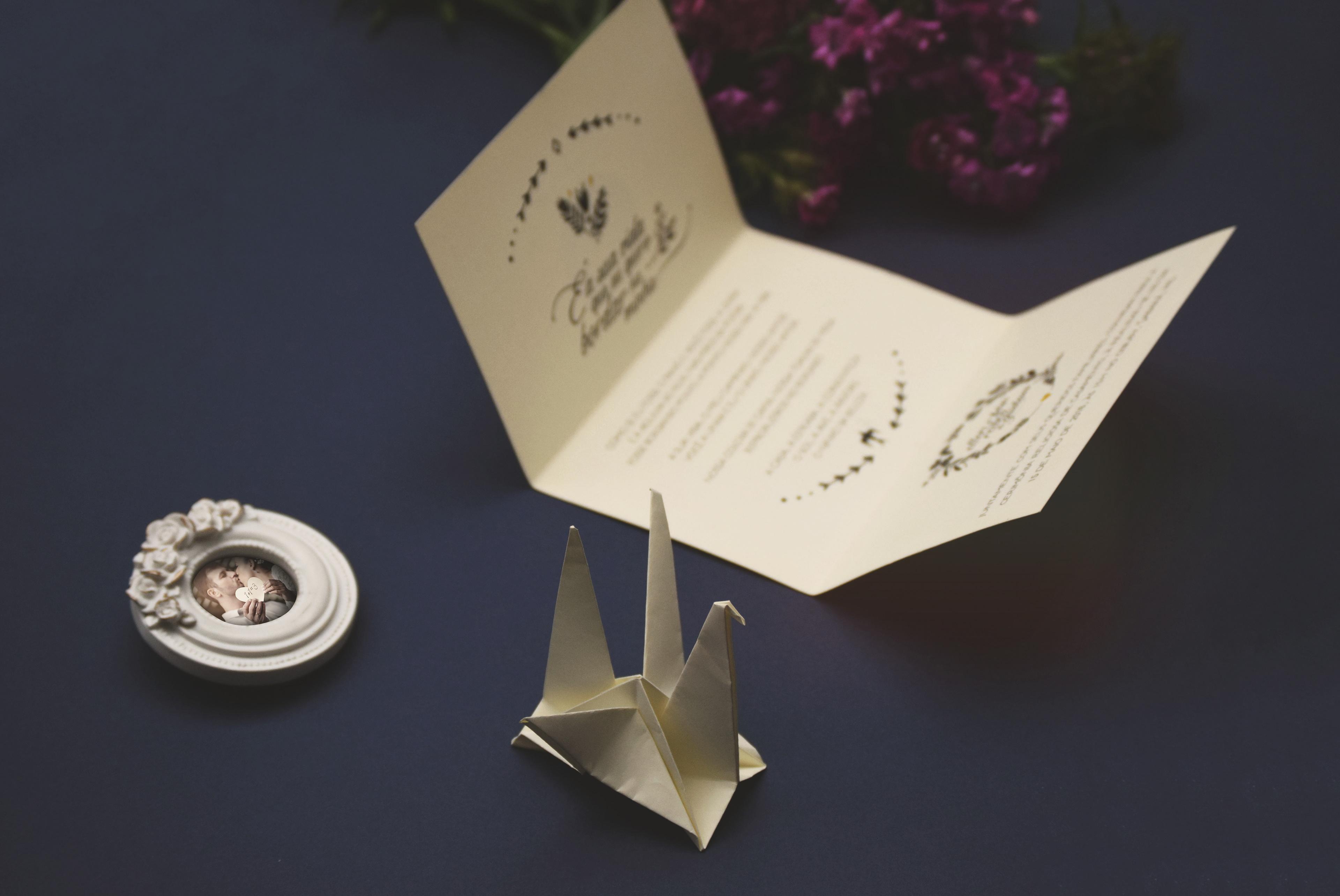 Origami Wedding Invitation &TD48 – Advancedmassagebysara - photo#35