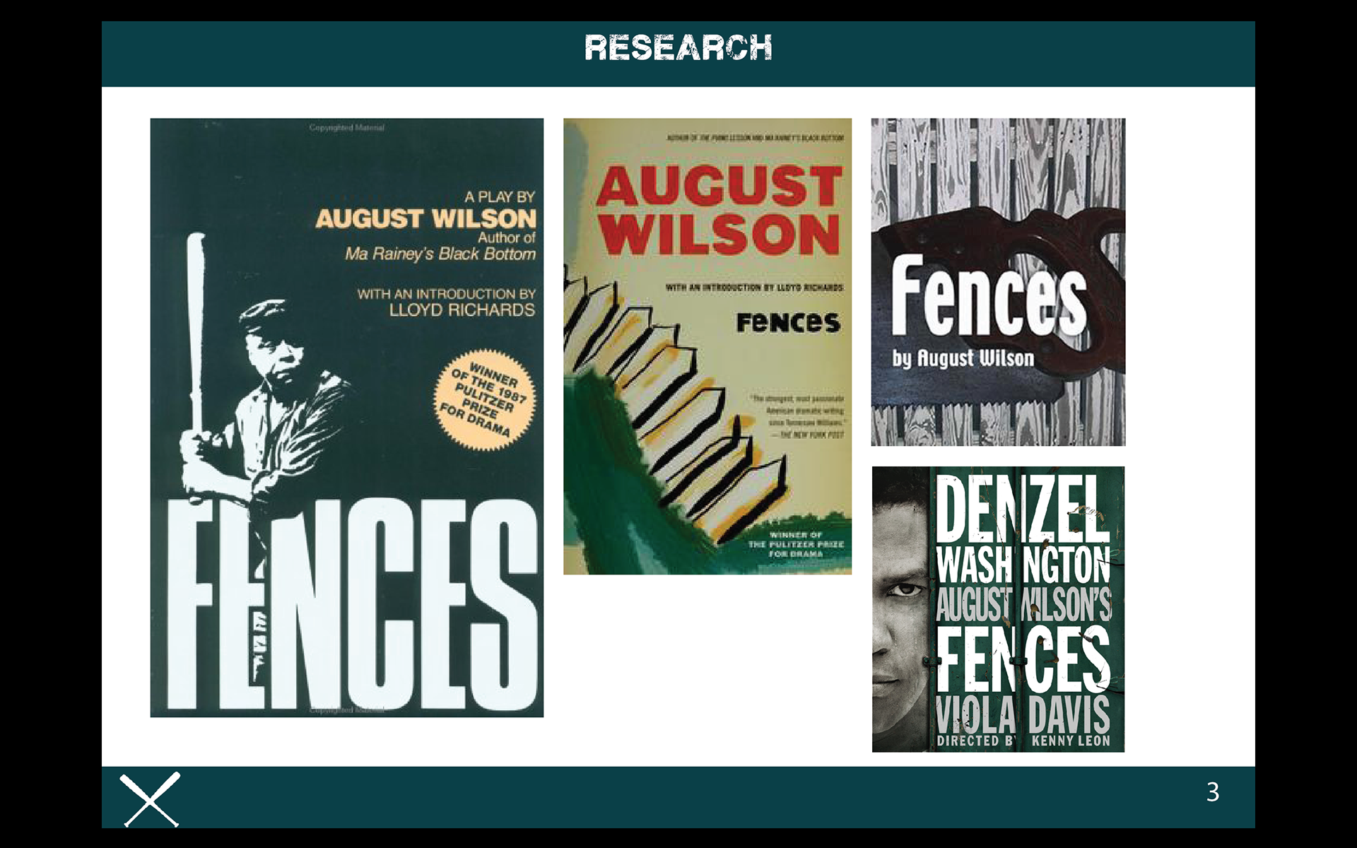 "analysis of august wilsons fences Name professor class date fences: imagery in august wilson's play introduction august wilson's play ""fences the analysis of the play the fences are also."