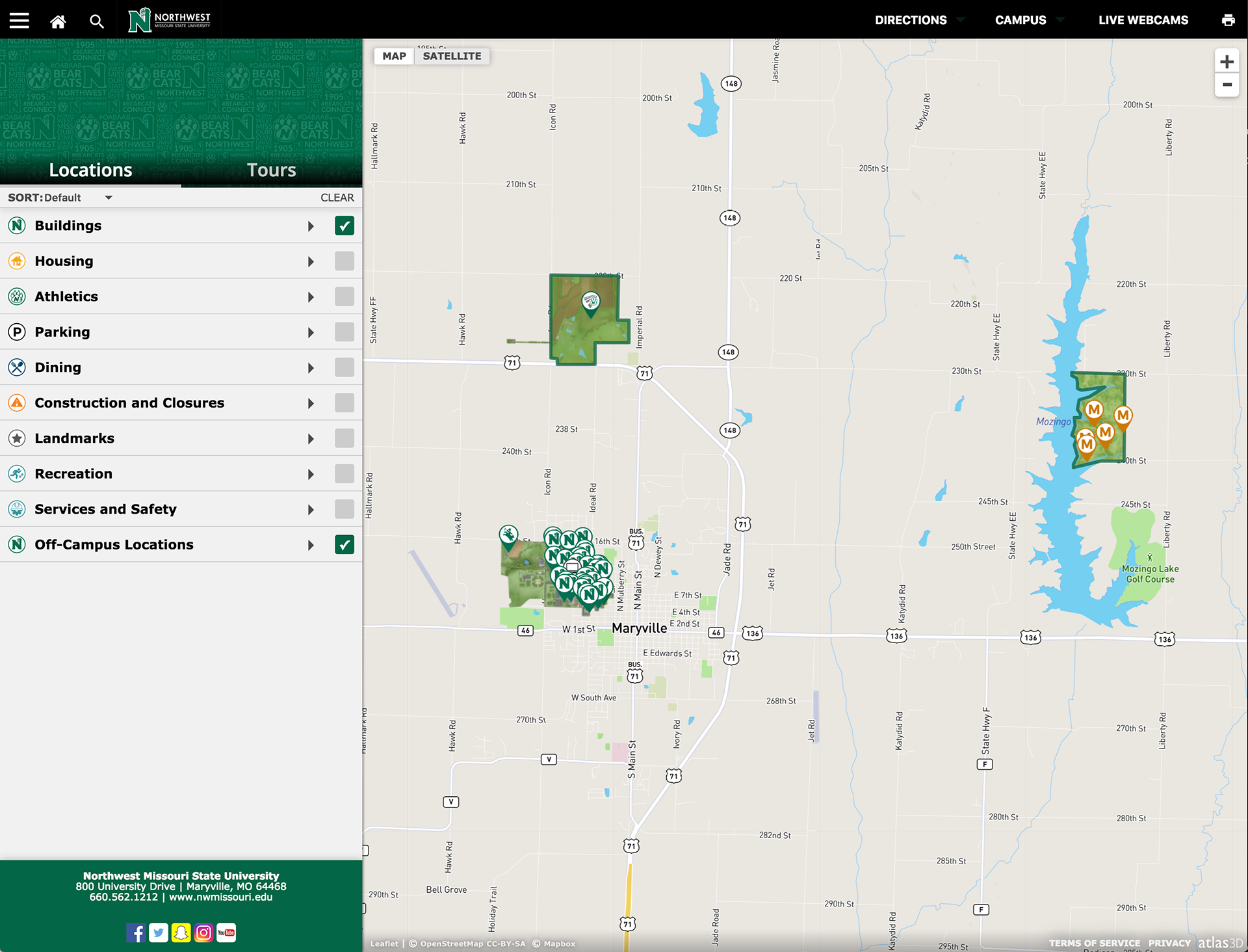 Northwest Missouri Map.Northwest Missouri State University Marketing And Communication