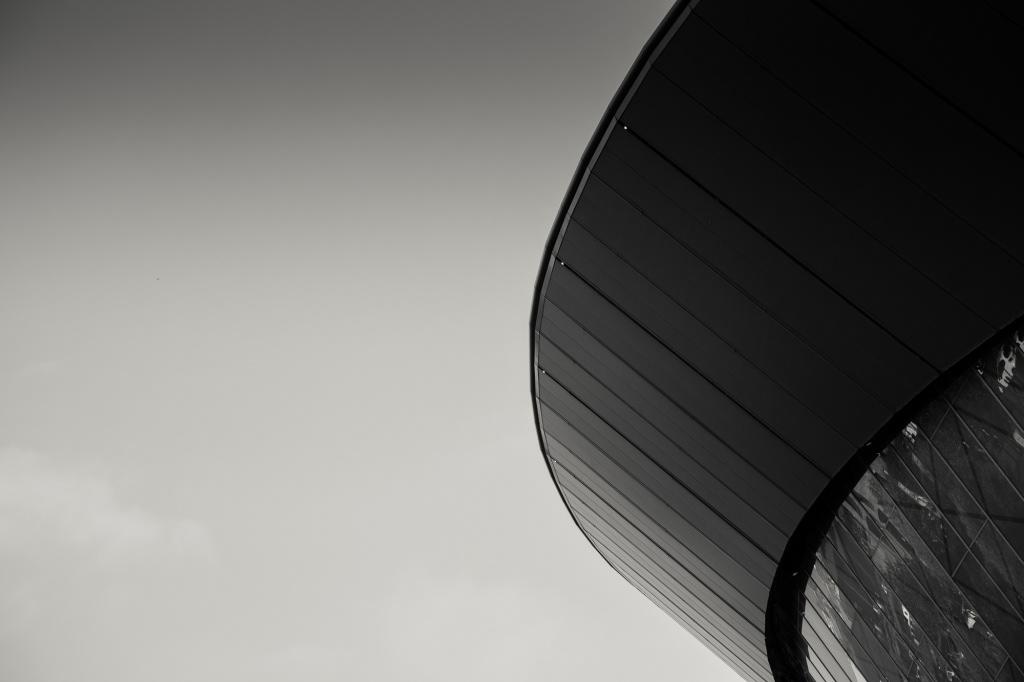 Black & White Architecture in Liverpool Docks.