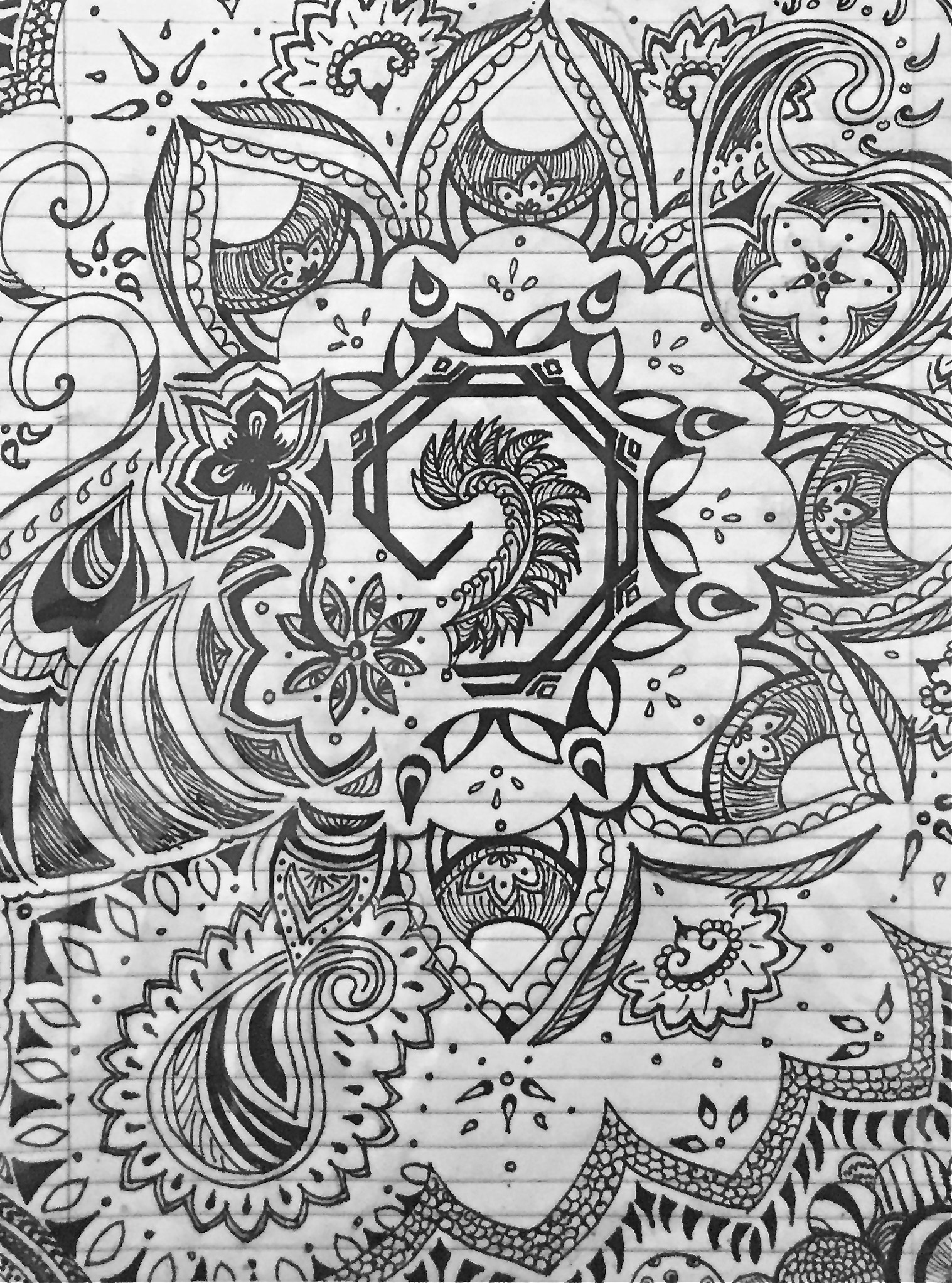 Pen And Ink Designs Done By Hand