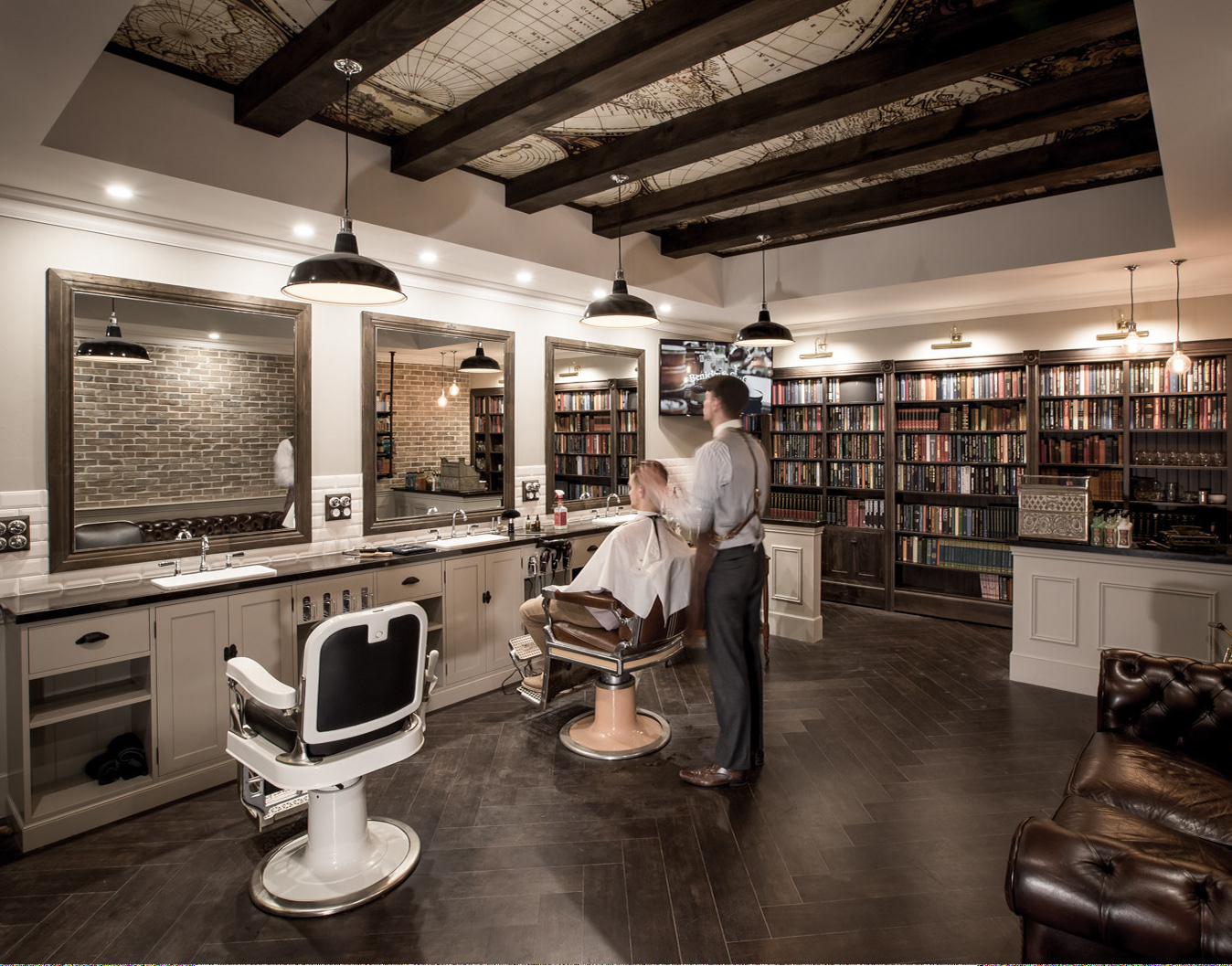 Daniel malik design portfolio barbershop design for Design shop de