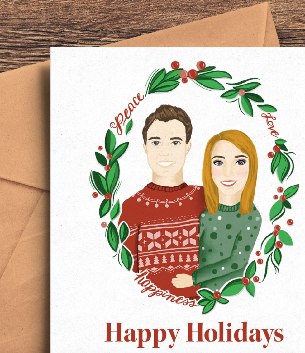 Kelsey maton professional design marketing 2017 christmas card the highlight of the project was seeing my illustrated card all over social media profiles as recipients received them in the mail and shared them online m4hsunfo