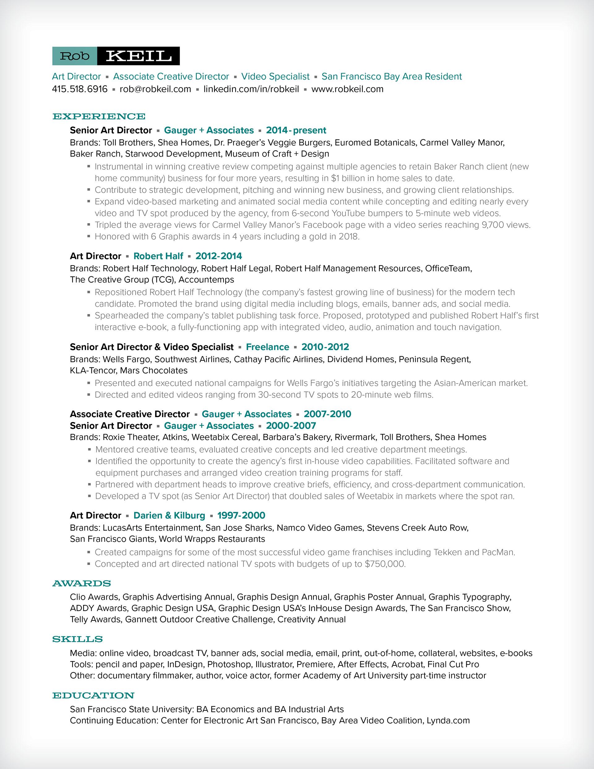 Rob Keil - resume