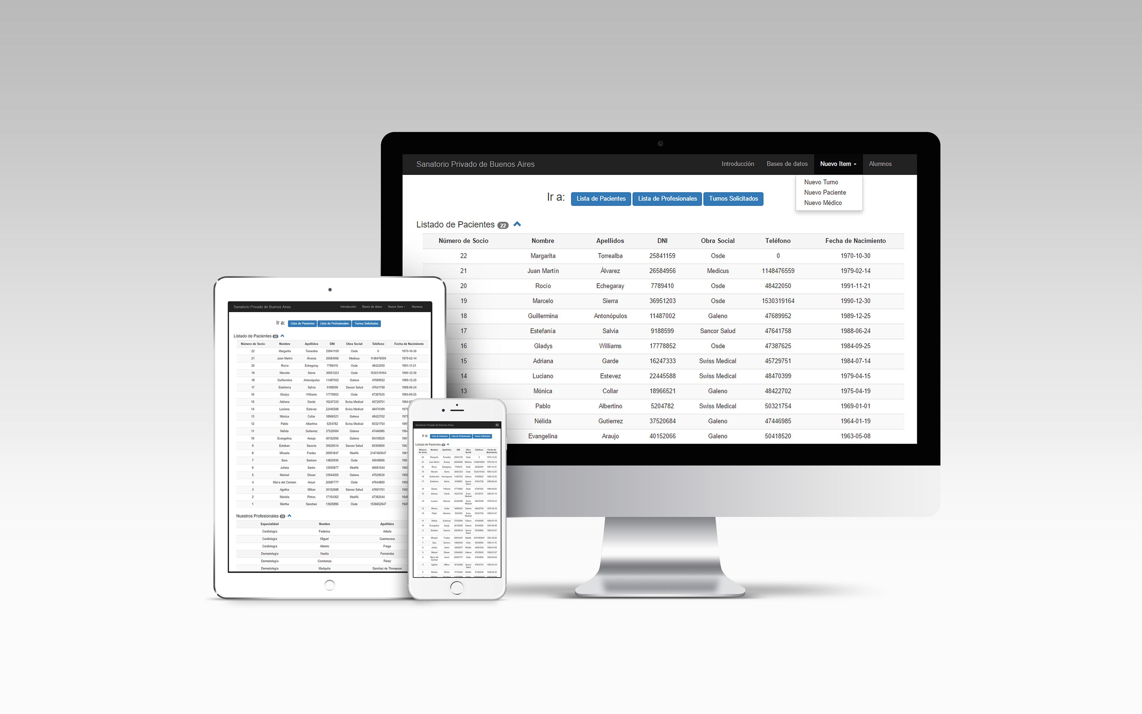 Emanuel Jalil - Web diseñada con Bootstrap. Base de Datos SQL + PHP