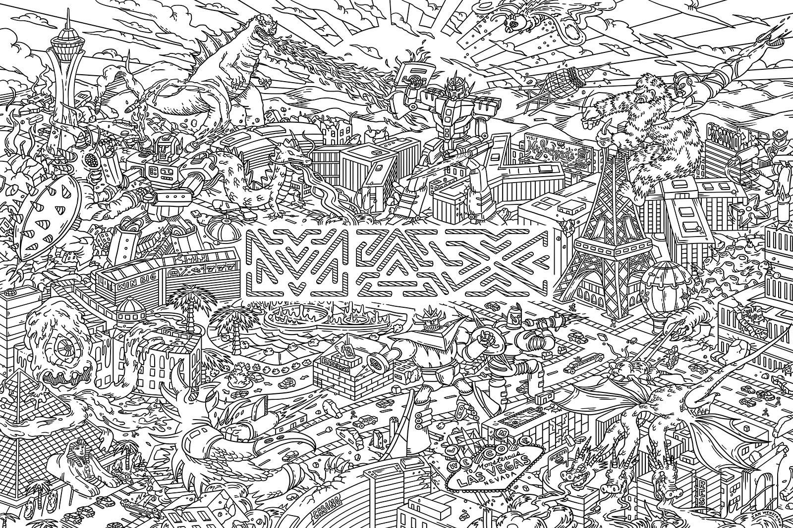 Ian Wenstrand - Adobe Max Coloring Wallpaper