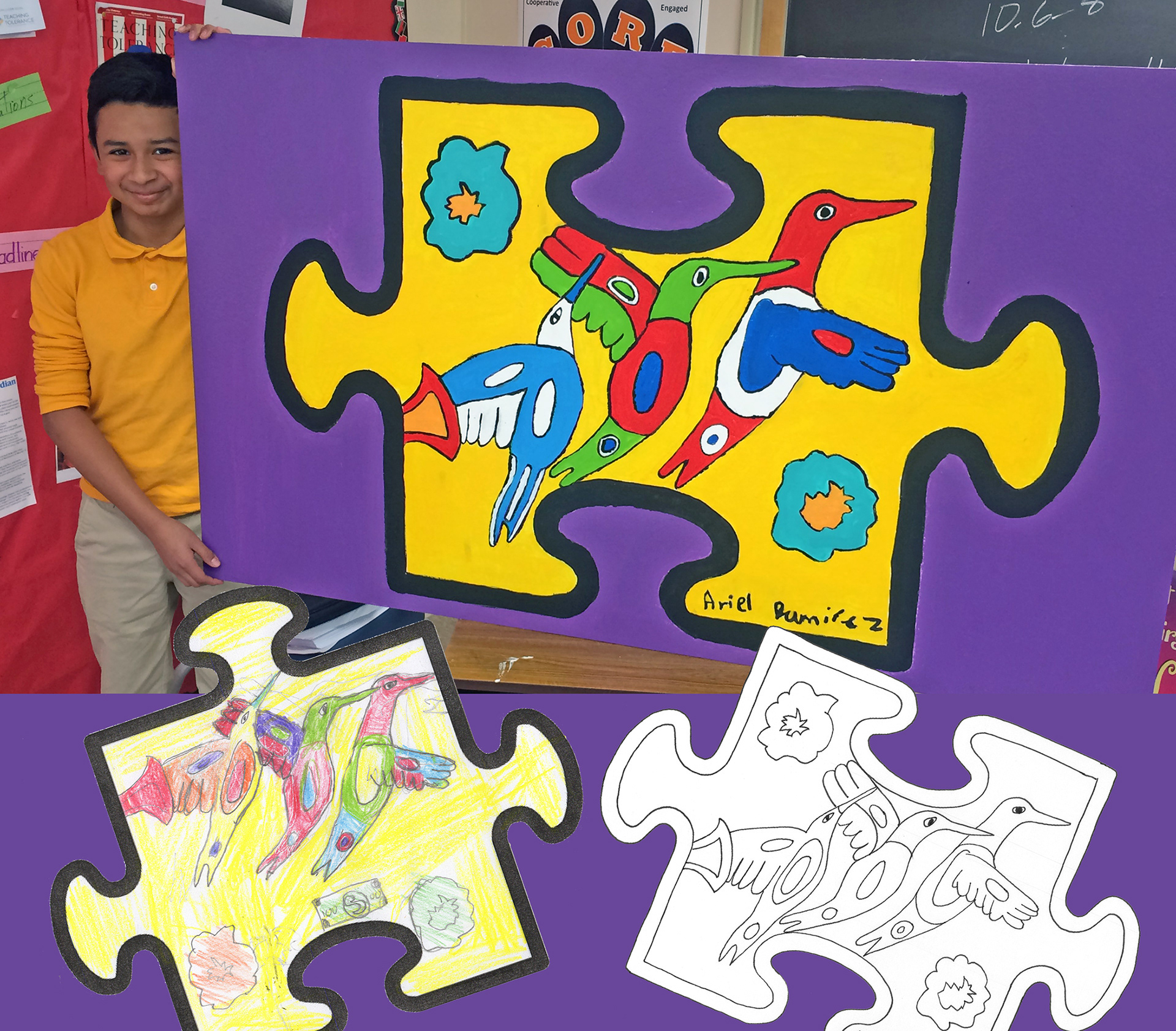 We All Fit Together Uses The Template Of A Puzzle Piece As Starting Point To Explore Issues Diversity And Inclusiveness