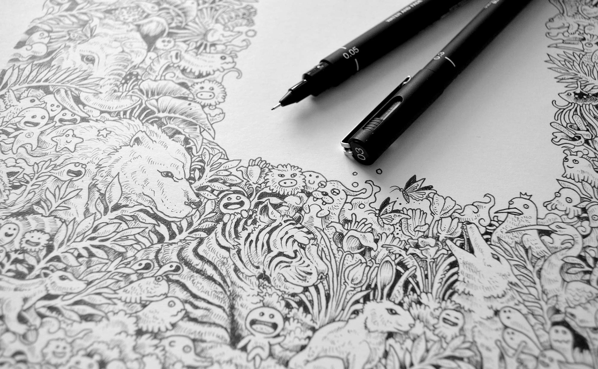 Animorphia Is A Quirky Coloring Book
