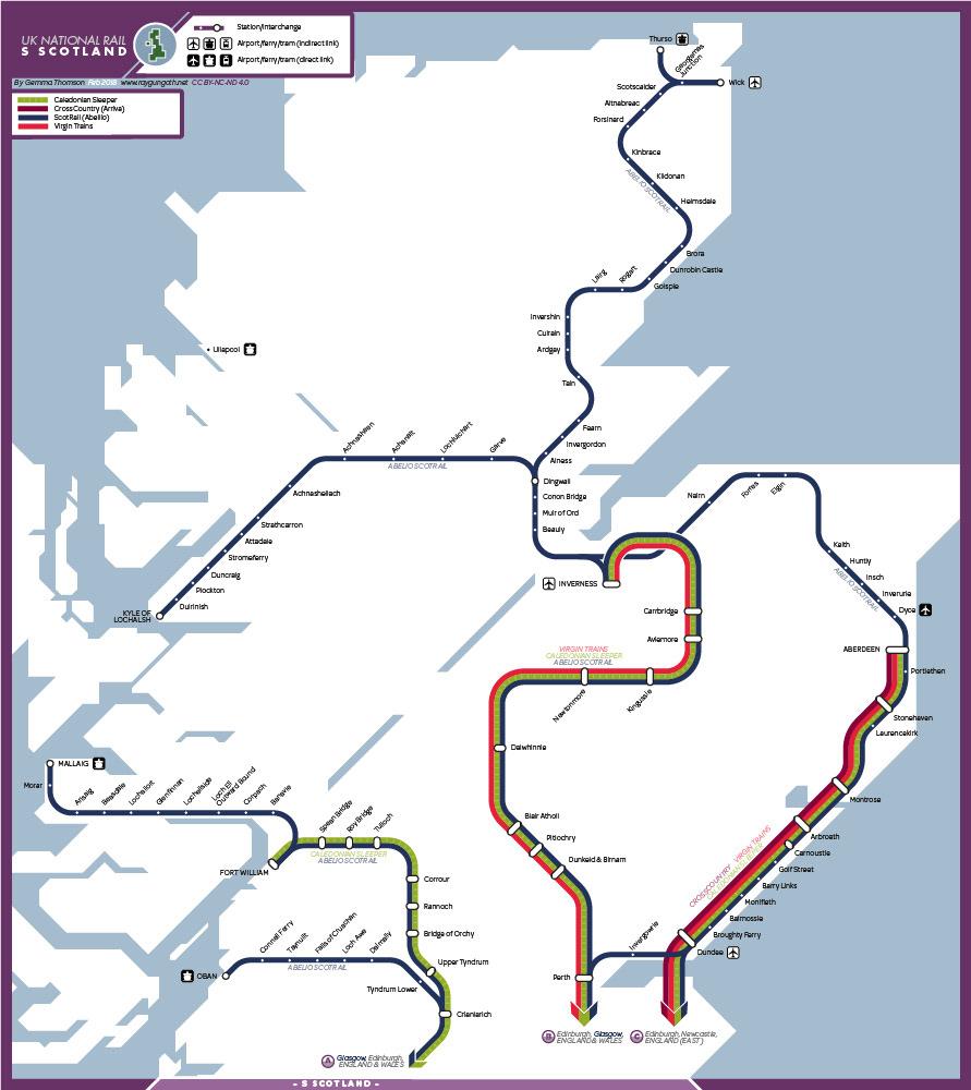 Gemma Thomson - UK National Rail Maps